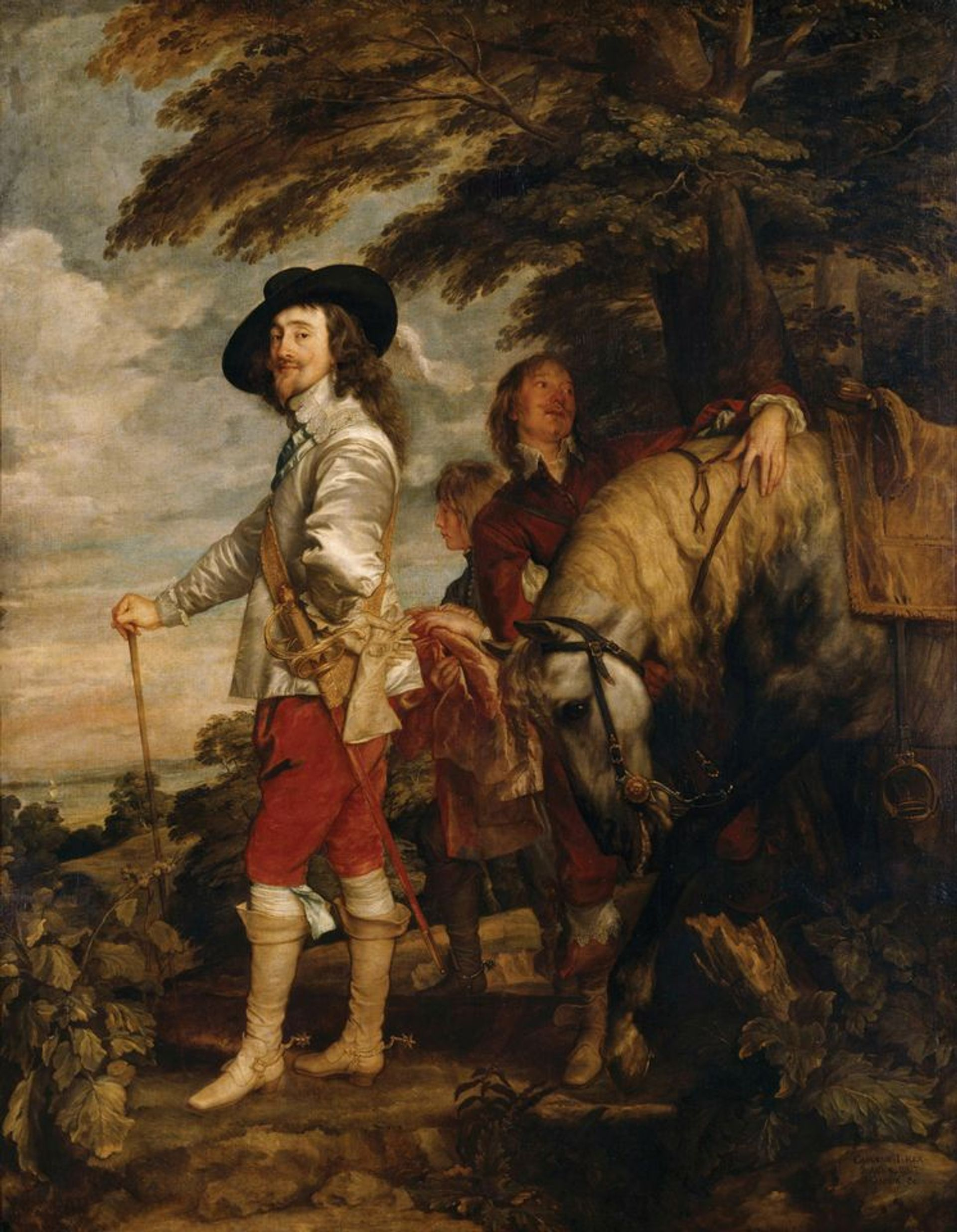 """Anthony van Dyck's Charles I in the Hunting Field or """"Le Roi à la Chasse"""" (around 1636) RMN-Grand Palais; Musée du Louvre; Christian Jean"""