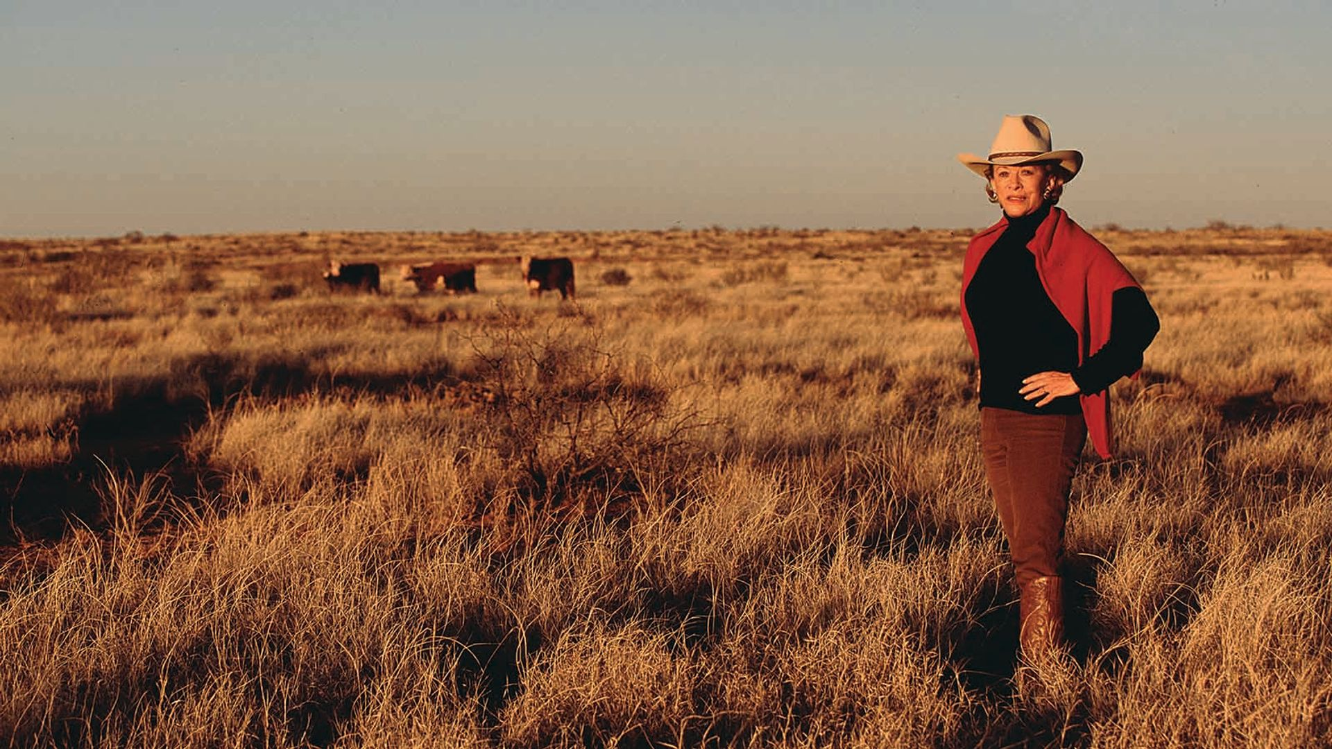 Anne Marion on her Four Sixes Ranch in Texas Courtesy of Sotheby's