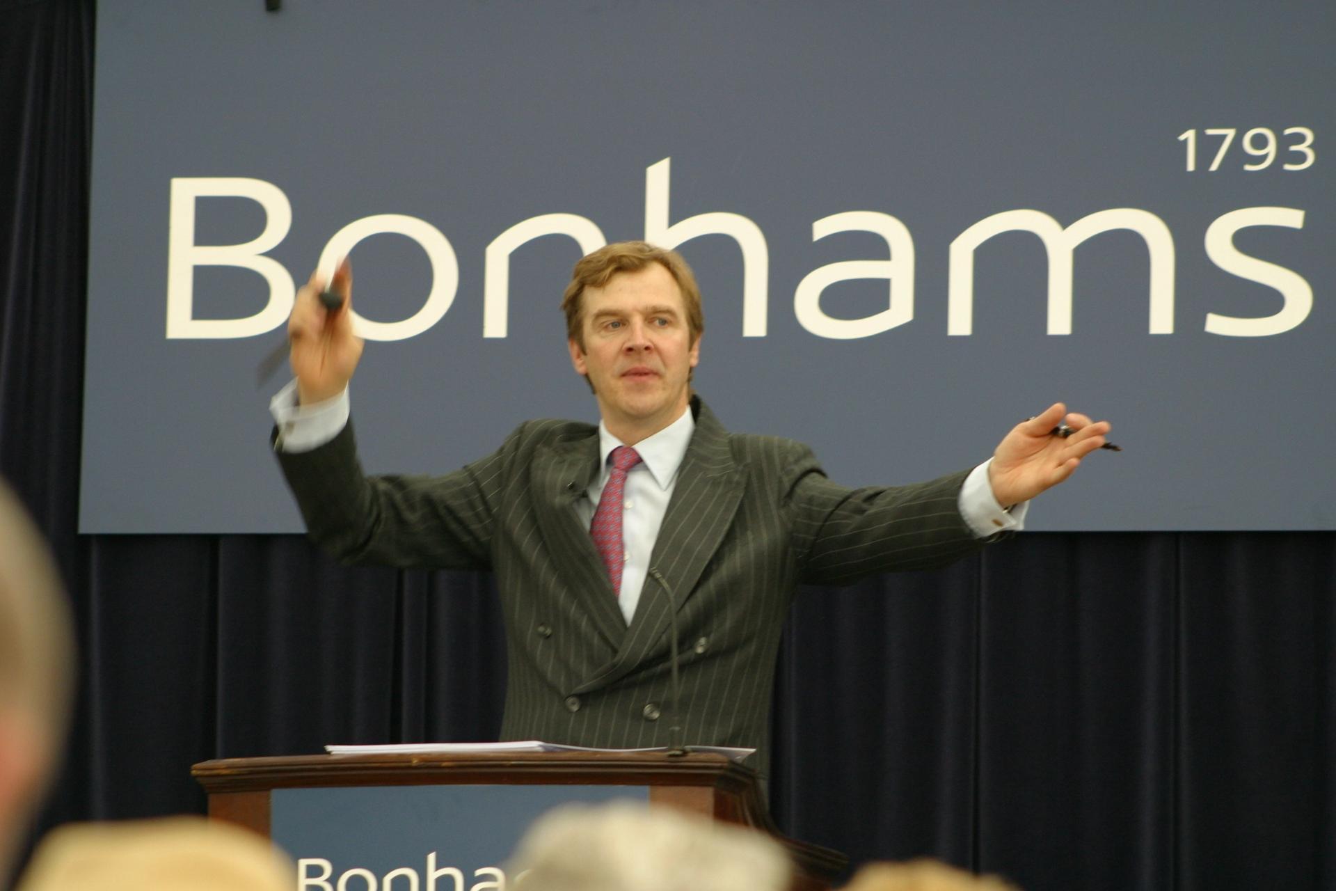 Robert Brooks on the rostrum Courtesy of Bonhams