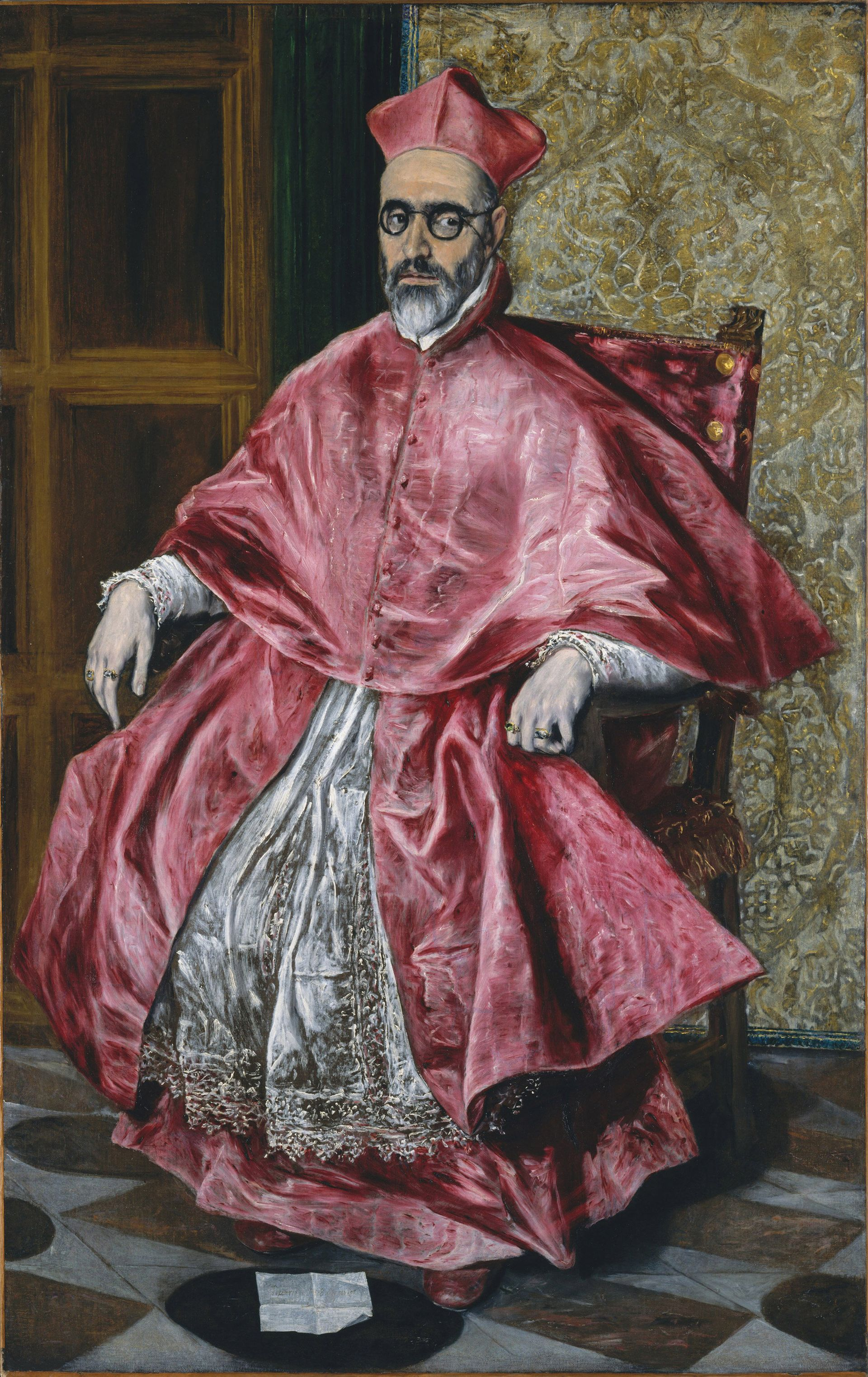 El Greco's portrait of Cardinal Fernando Niño de Guevara (around 1600) Metropolitan Museum of Art