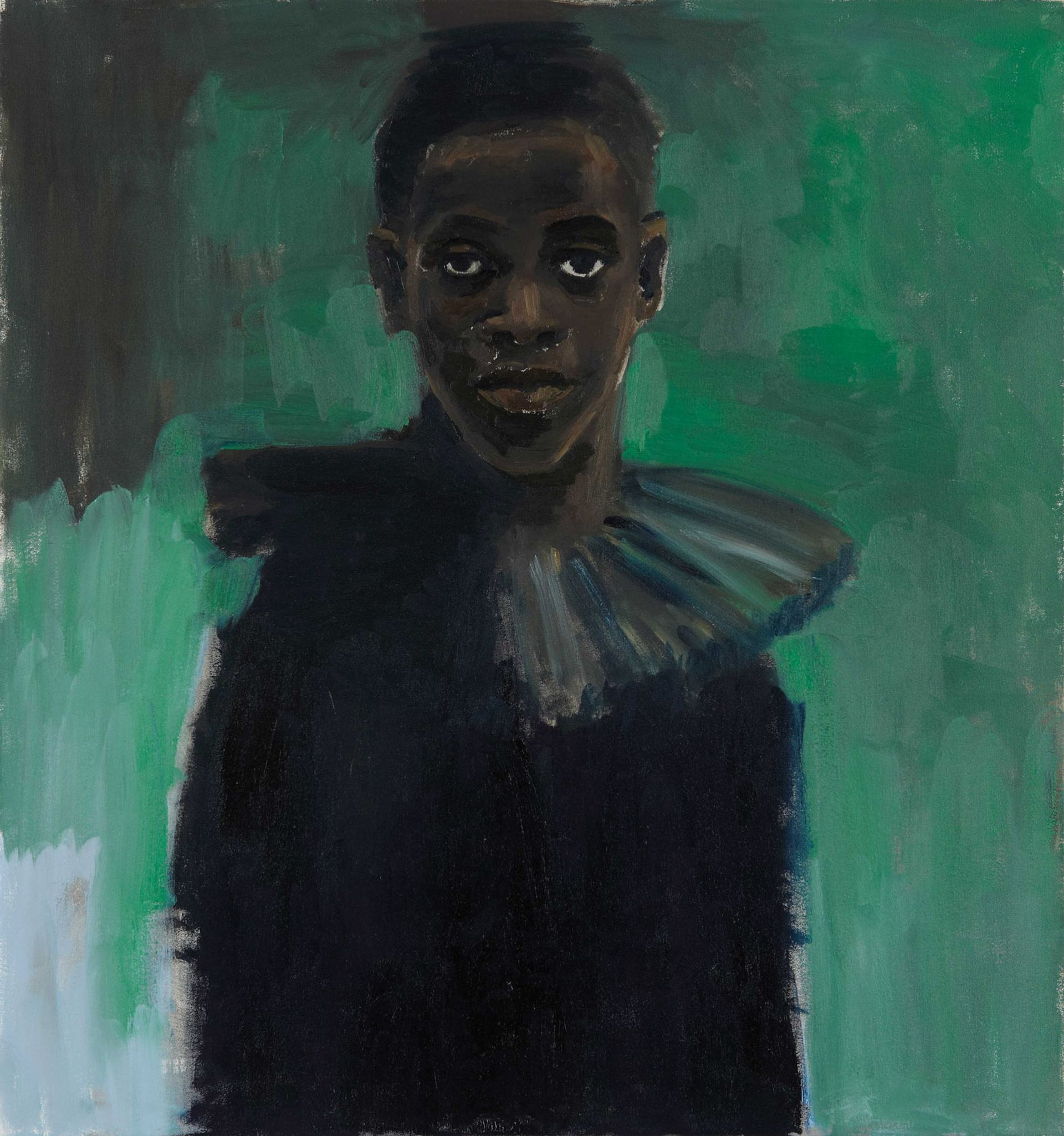 Yiadom-Boakye's portraits, suchas A Passion Like No Other (2012), arecomposite constructions informed by scrapbooks created by the artist © Lynette Yiadom-Boakye
