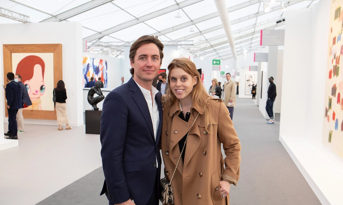 P(art)y people: Princess Beatrice joins the VIP crowds at Frieze London