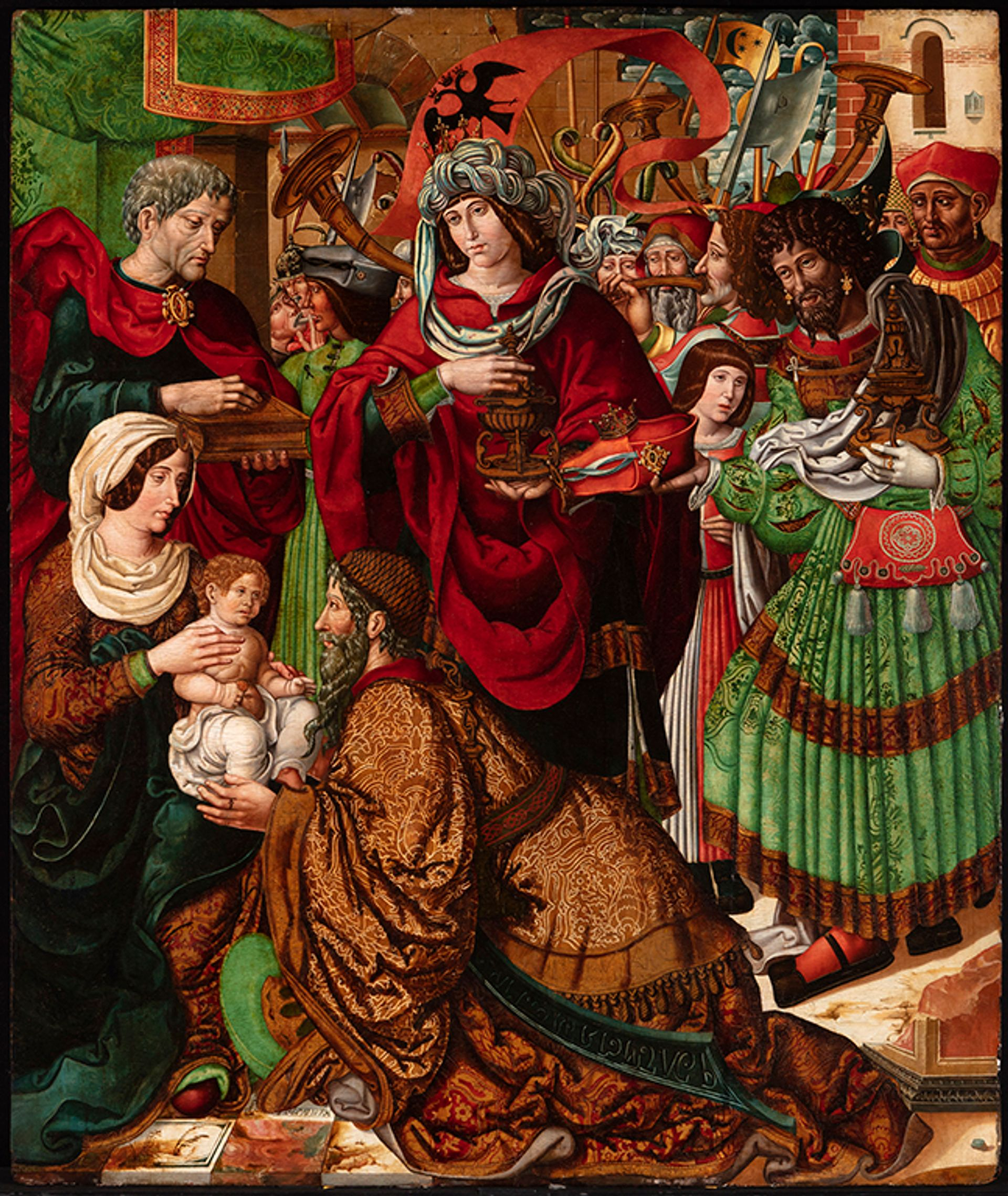 The Master of  Sigena's Adoration of  the Magi (around 1519), an image of which the Meadows Museum supplied to the Dallas Opera for potential use in a production of Don Carlo Meadows Museum