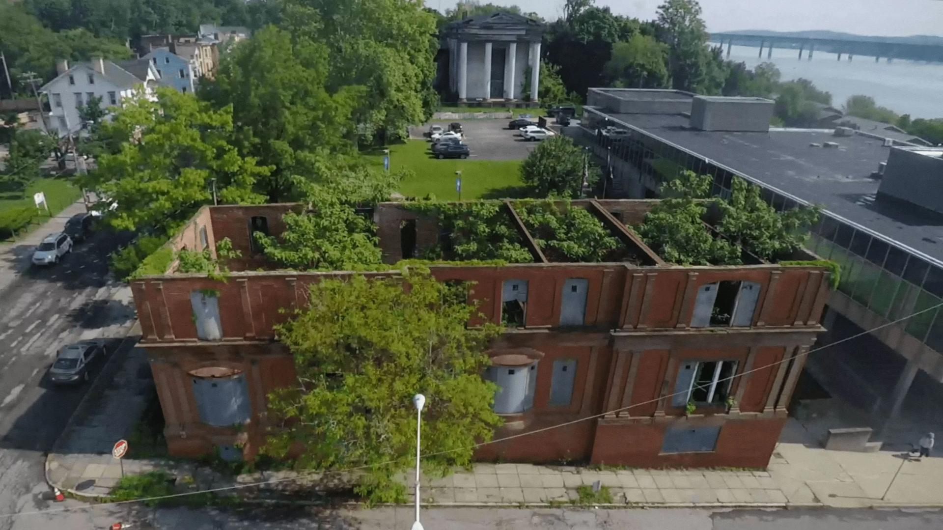 Aerial view of the City Club building in its current state Courtesy Strongroom