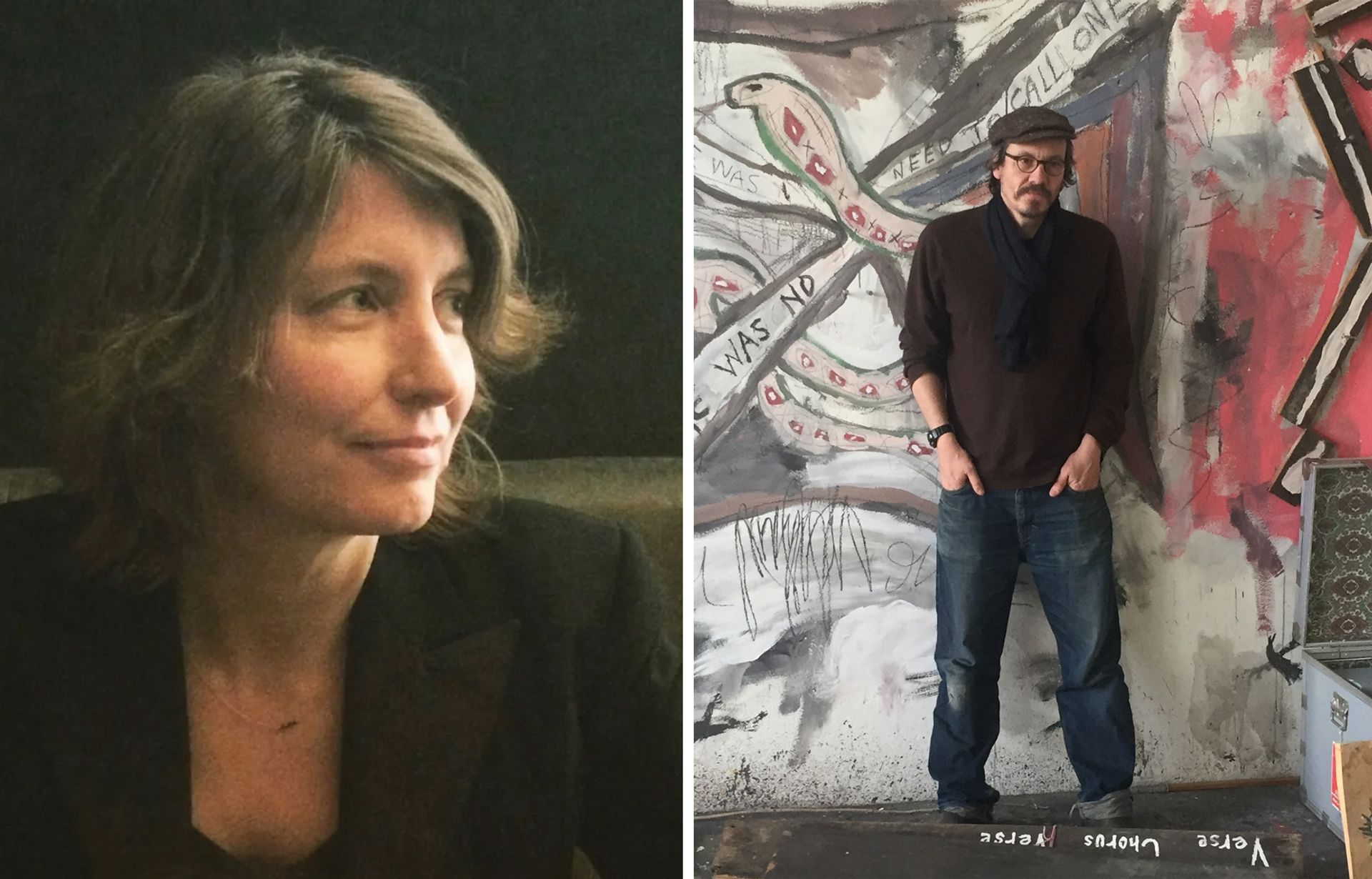 Rebeccah Blum (left) and Saul Fletcher in his Berlin studio (right) Blum: © and courtesy of Emma Blum. Fletcher: © the artist