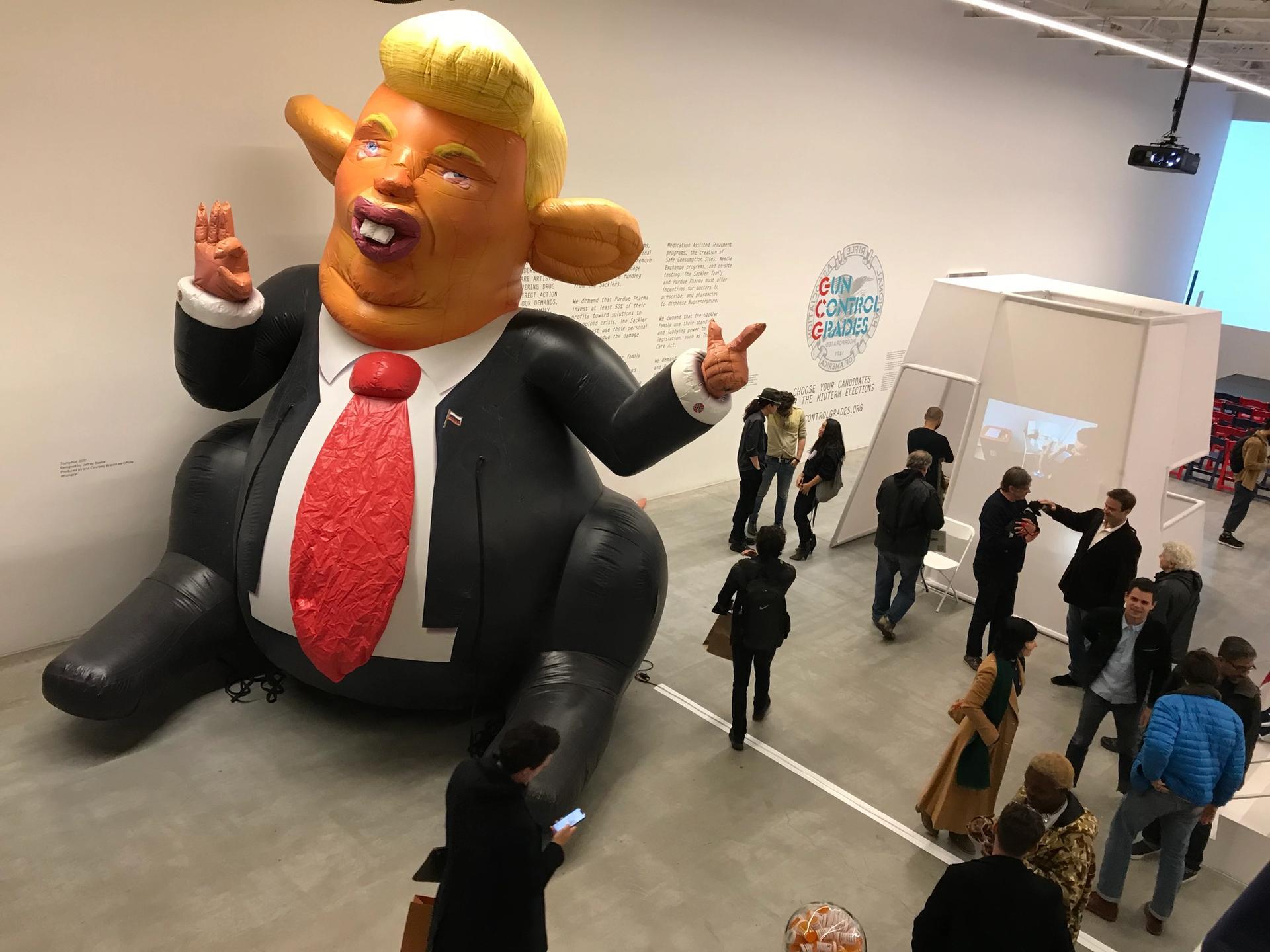 Trump Rat greets visitors to dealer Jeffrey Deitch's Protest Factory Courtesy of Jeffrey Deitch