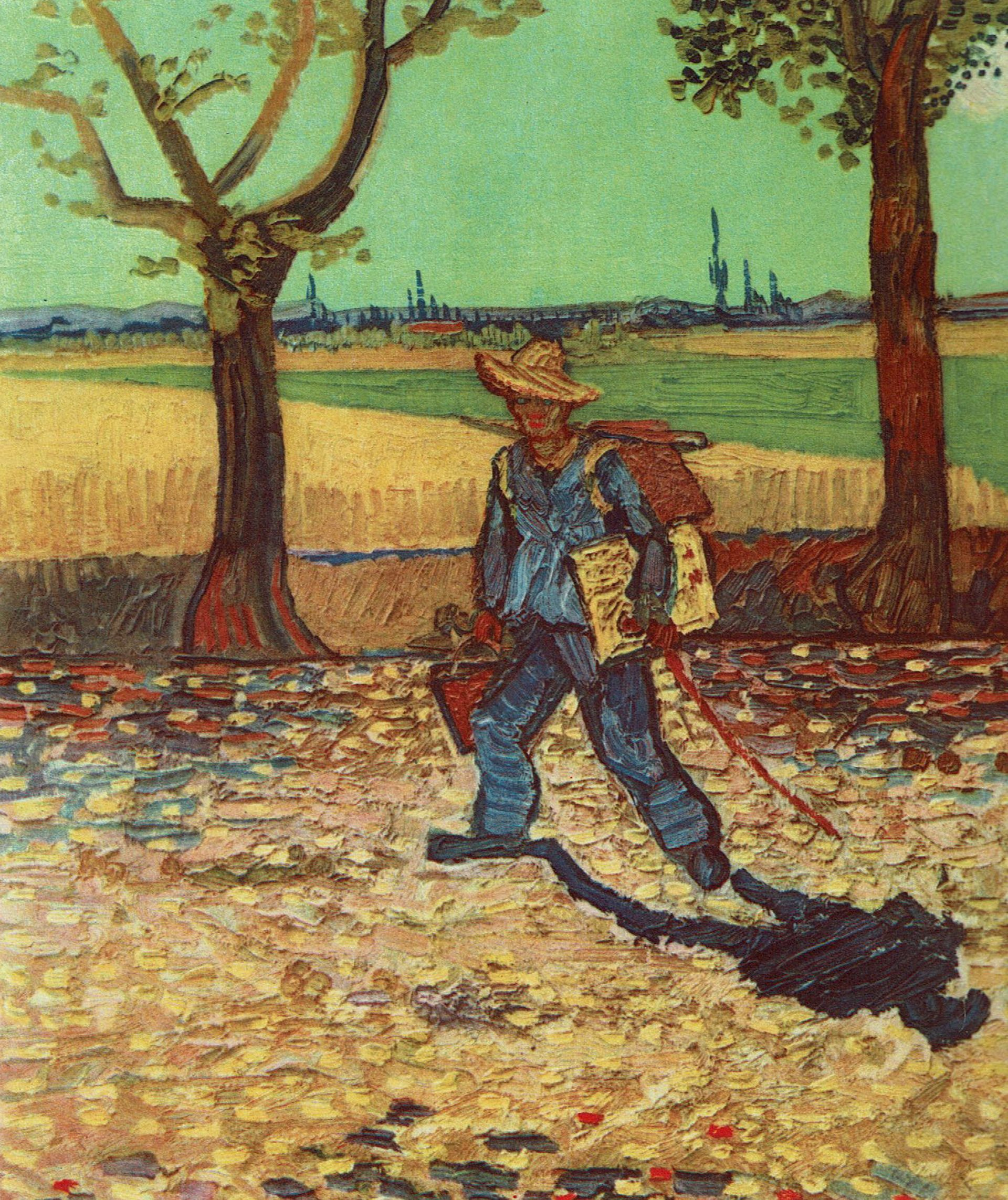 Vincent van Gogh's The Artist on the Road to Tarascon (1888)