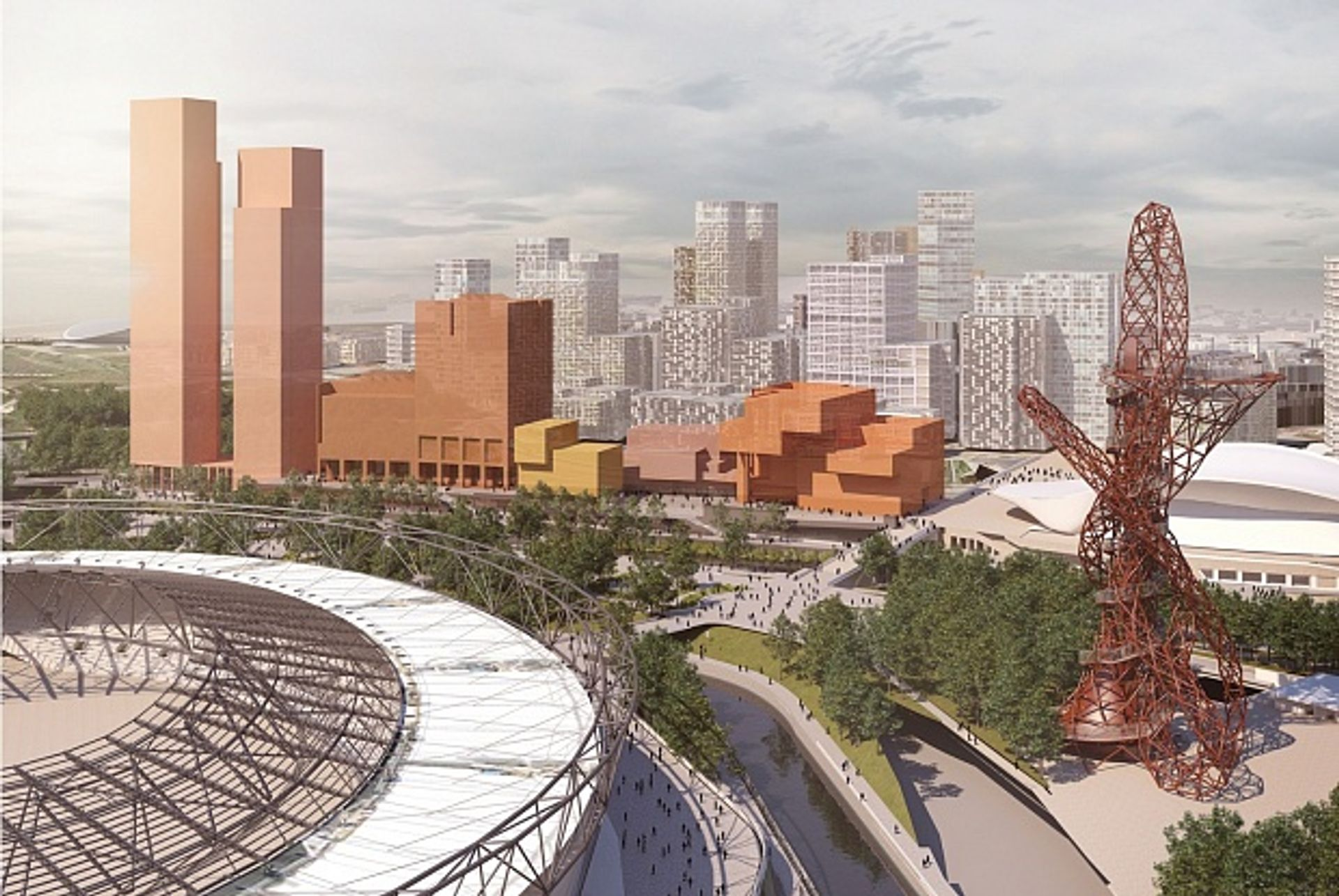 V&A East will be on London's Stratford Waterfront (2016 scheme) courtesy of Allies and Morrison Architects