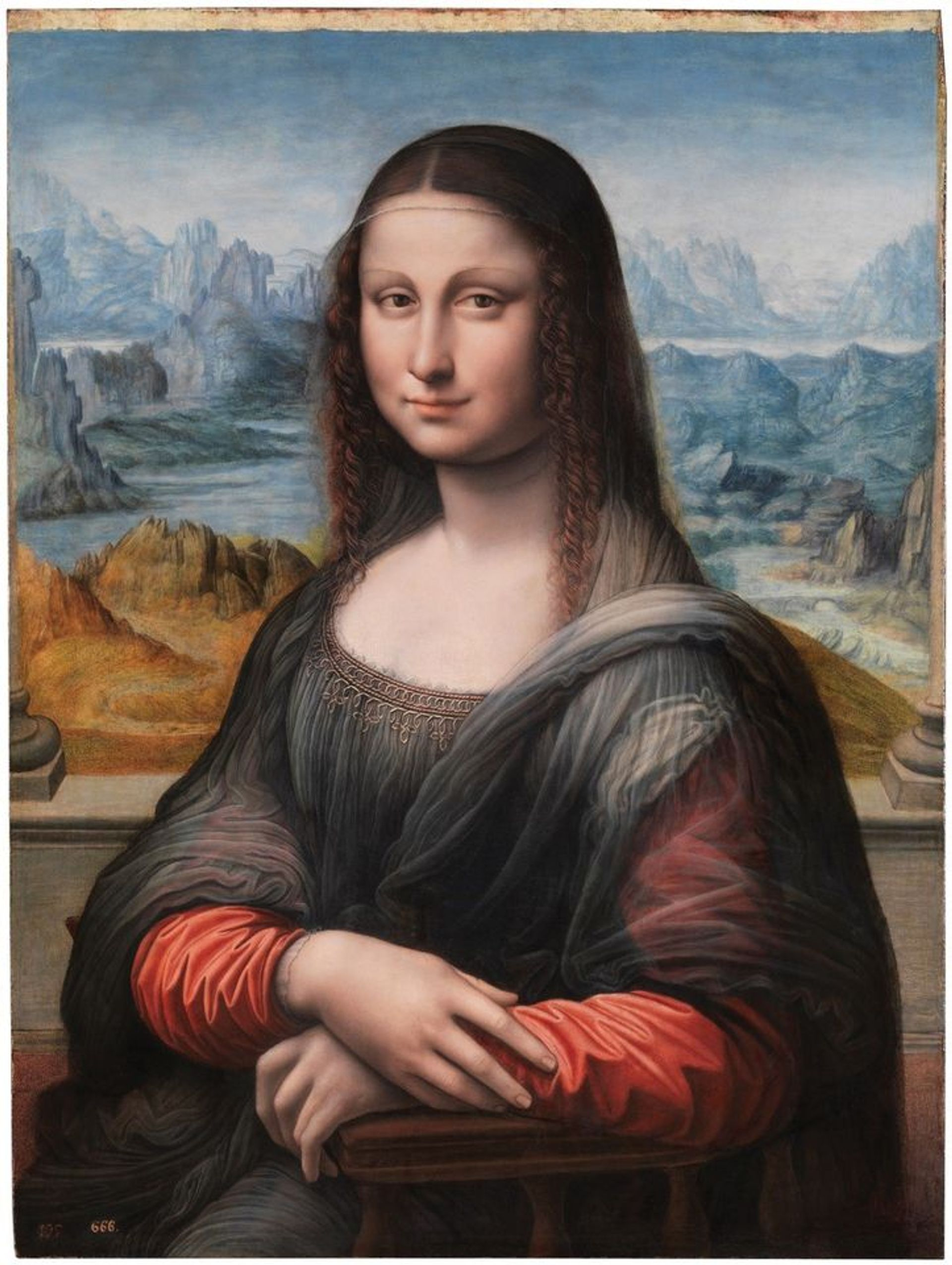 The Prado's copy of the Mona Lisa, attributed to the workshop of Leonardo (1507-16) Courtesy of Museo del Prado, Madrid