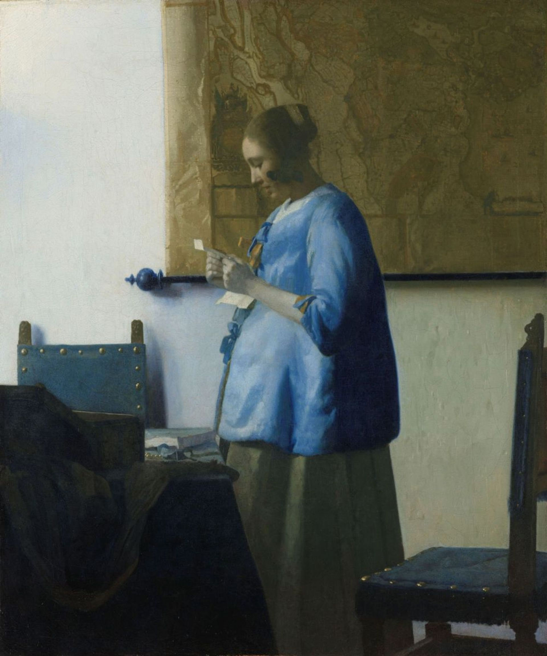 Vermeer's Woman in Blue Reading a Letter (around 1663) will be on loan from the Rijksmuseum for the exhibition at Dresden's Semperbau © Rijksmuseum