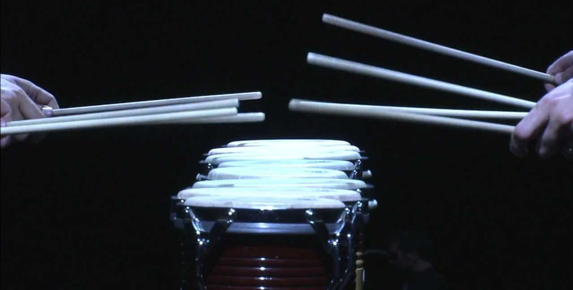 A still from a performance of Steve Reich's Drumming by Portland Percussion Group A still from a performance of Steve Reich's Drumming by Portland Percussion Group