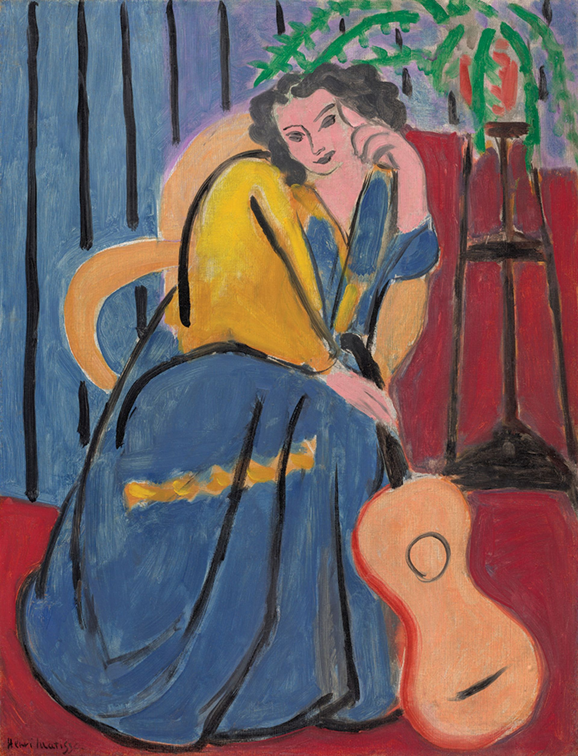 Henri Matisse's Girl in Yellow and Blue with Guitar (1939) was seized from the dealer Paul Rosenberg Art Institute of Chicago/Art Resource, NY; Succession H. Matisse/ARS, NY