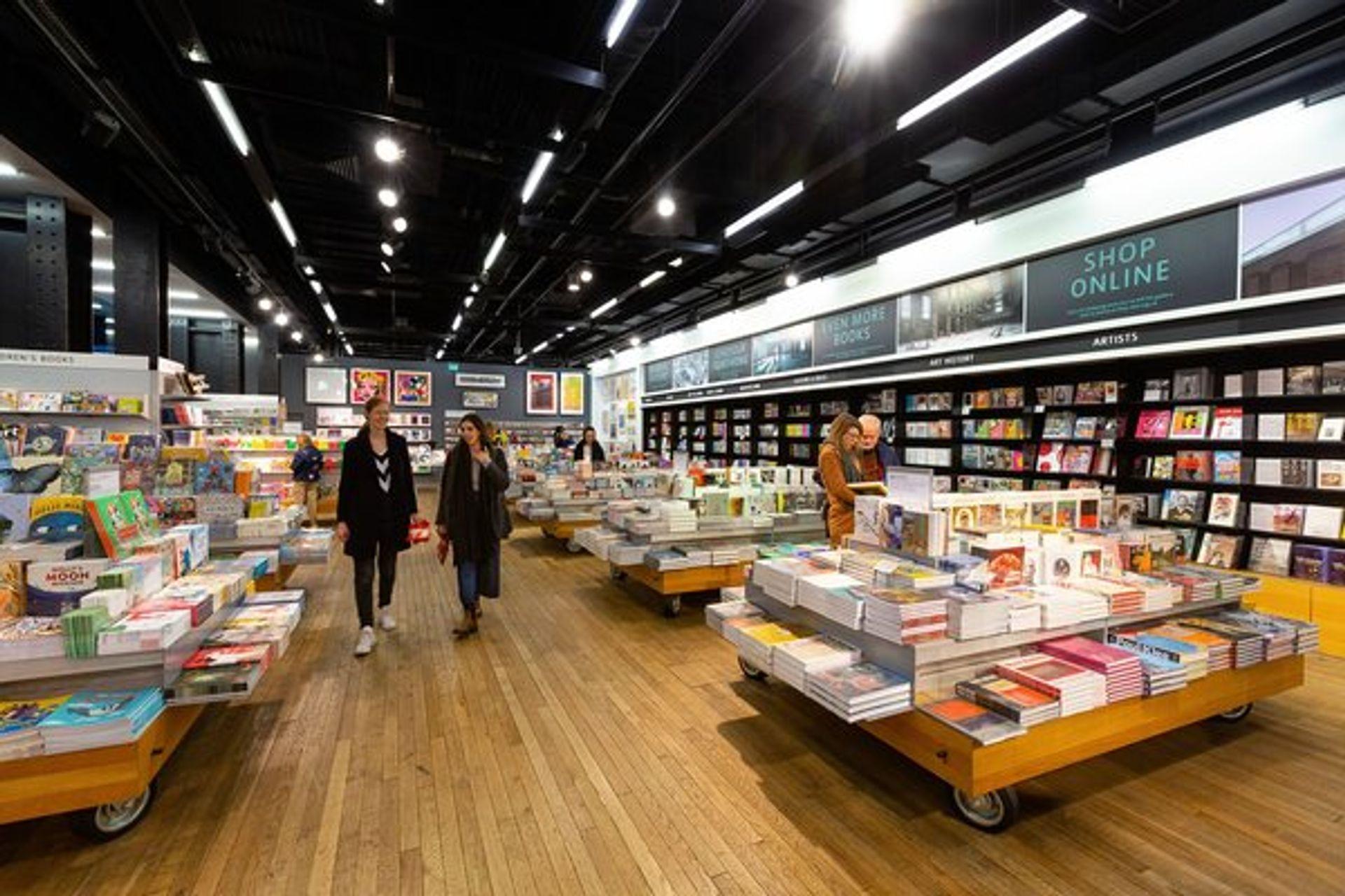 The Turbine Hall book shop at Tate Modern