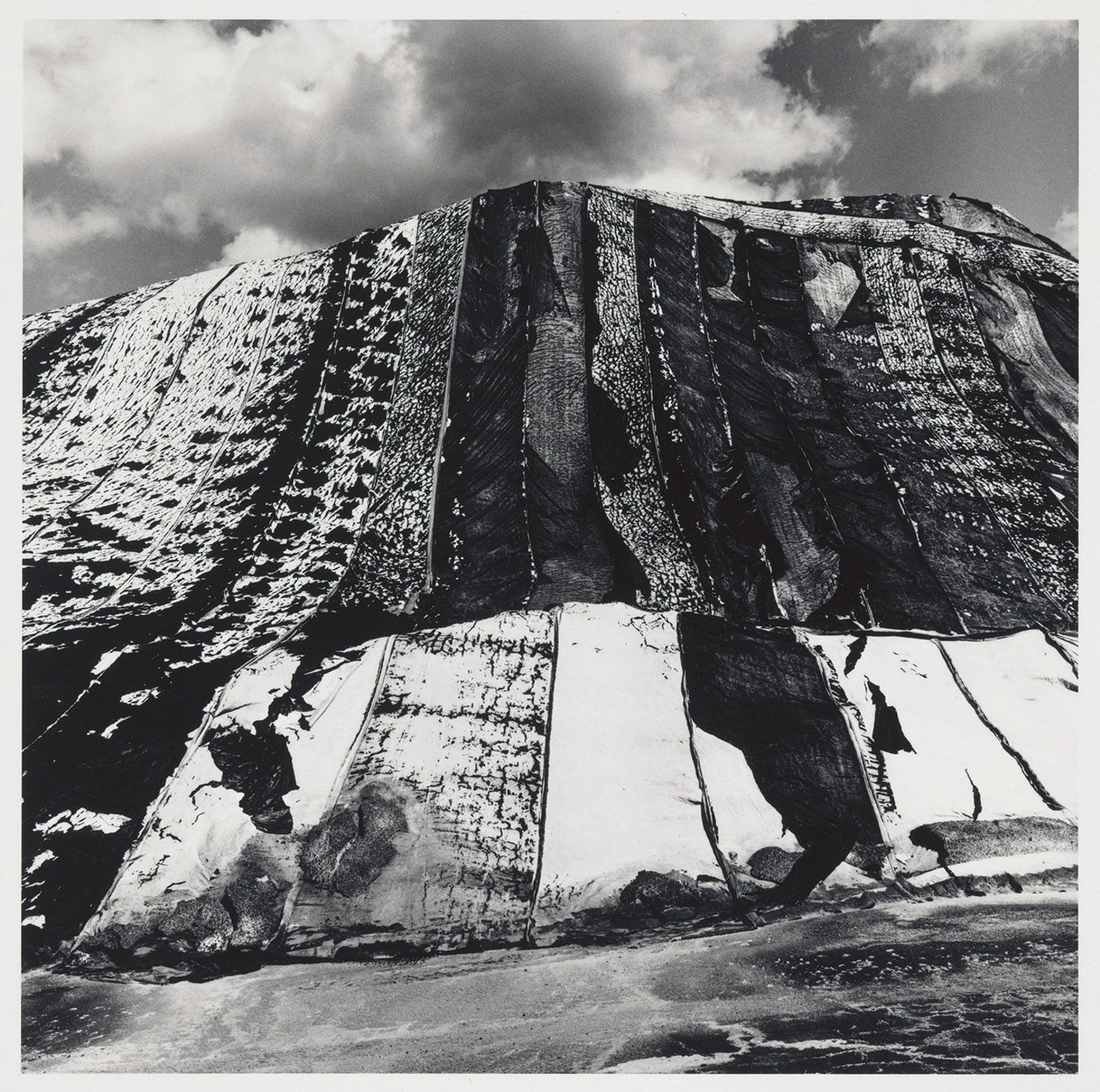 Rich texture and high contrast in Salt Pile (1971) by Al Fennar, who was influenced by Japanese post-war photography © Miya Fennar and The Albert R. Fennar Archive, and Virginia Museum of Fine Arts