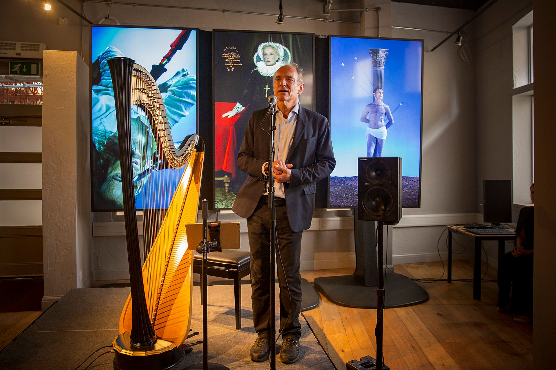 Sir Tim Berners-Lee at the NGX launch © The National Gallery, London