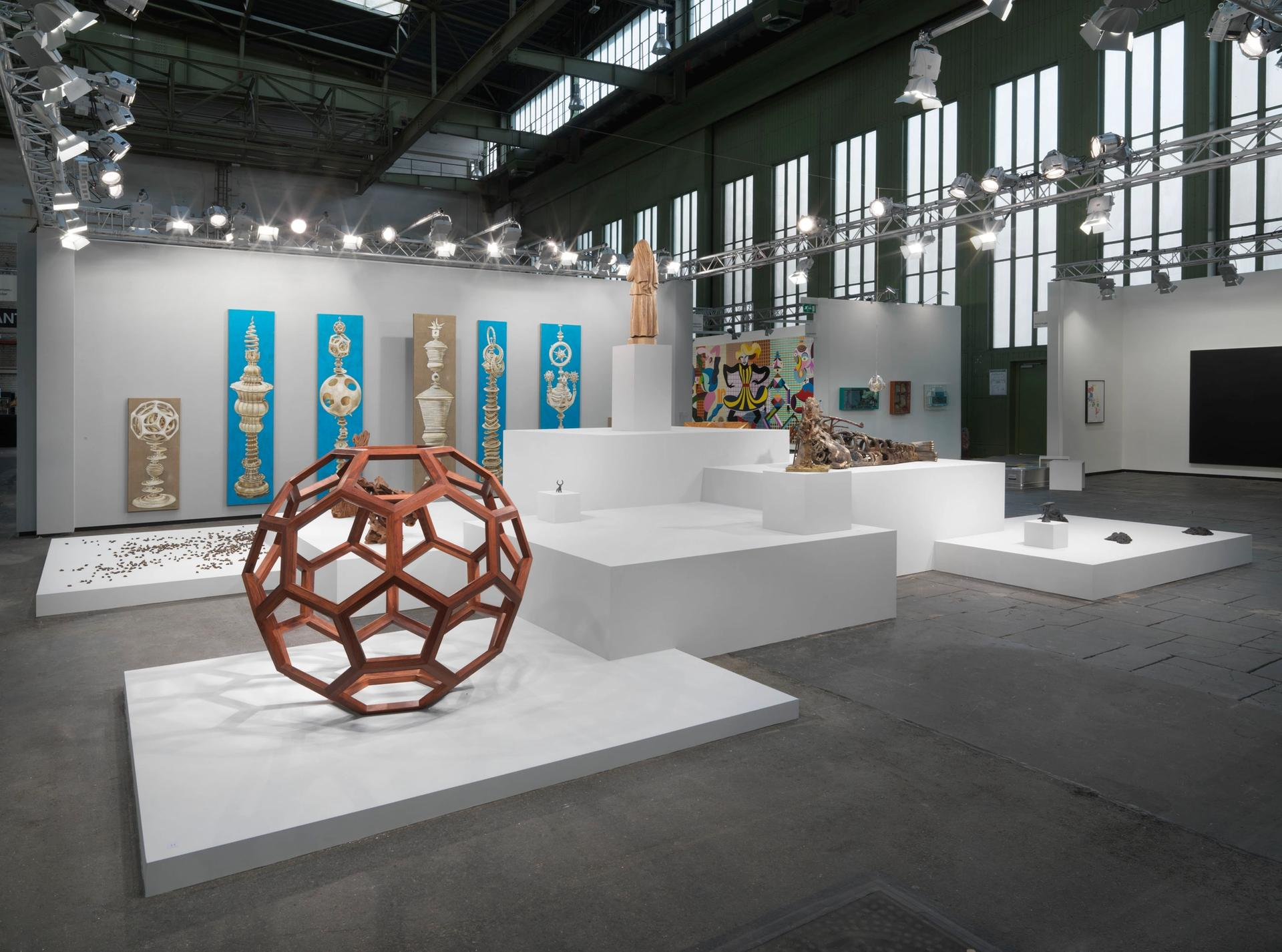 neugerriemschneider's sculpture-heavy booth at Art Berlin presented contemporary takes on devotional icons © the artists; courtesy of the artists and neugerriemschneider