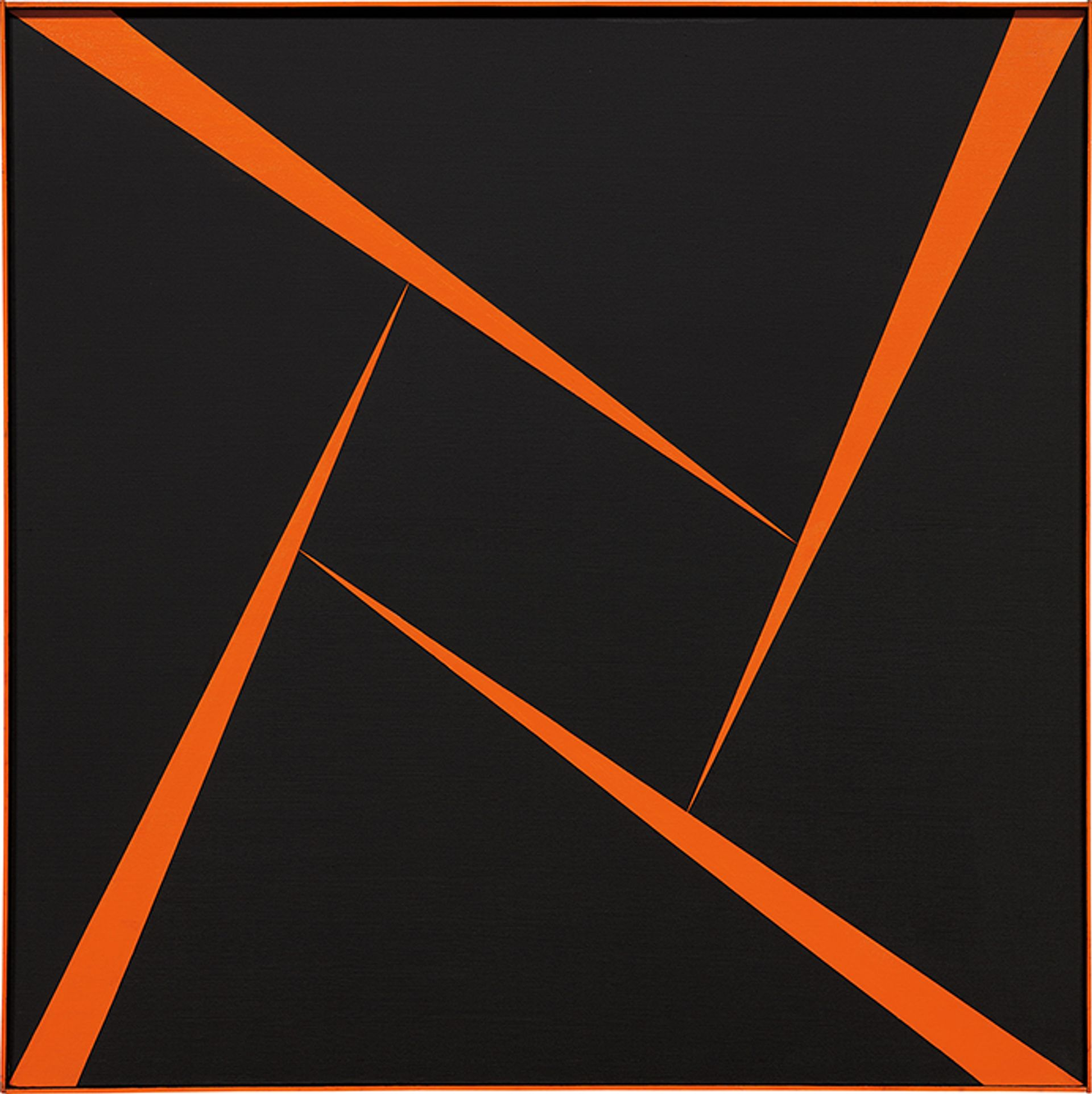 Carmen Herrera's Untitled (Orange and Black) (1956) sold for an artist-record $1.2m in Phillips' 20th Century and Contemporary Art evening sale in New York in November 2017 Courtesy of Phillips