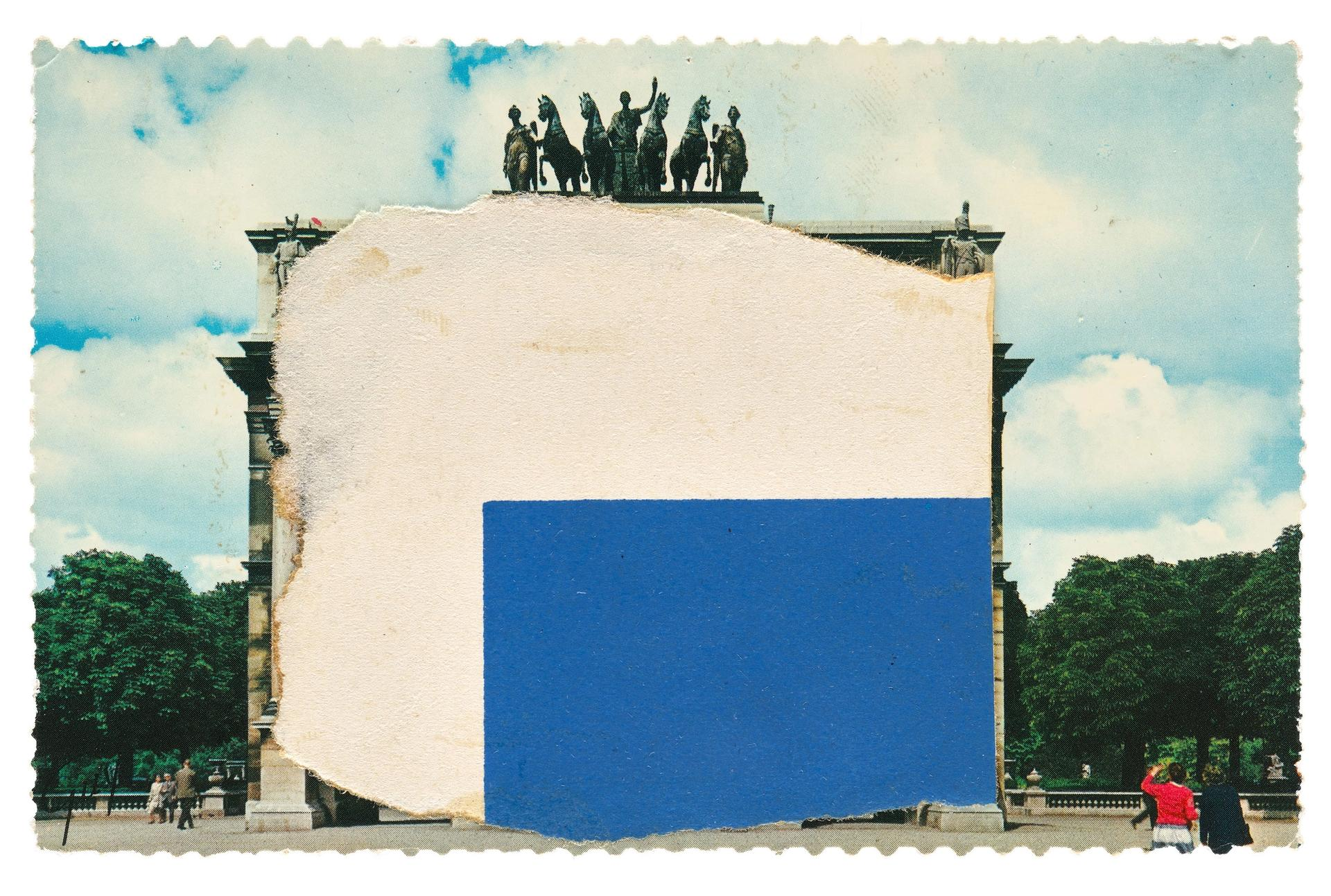 Ellsworth Kelly, Study for Blue and White Sculpture for Les Tuileries (1964), 3 1/2 x 5 1/2 inches, collection of Ellsworth Kelly Studio and Jack Shear © Ellsworth Kelly Foundation