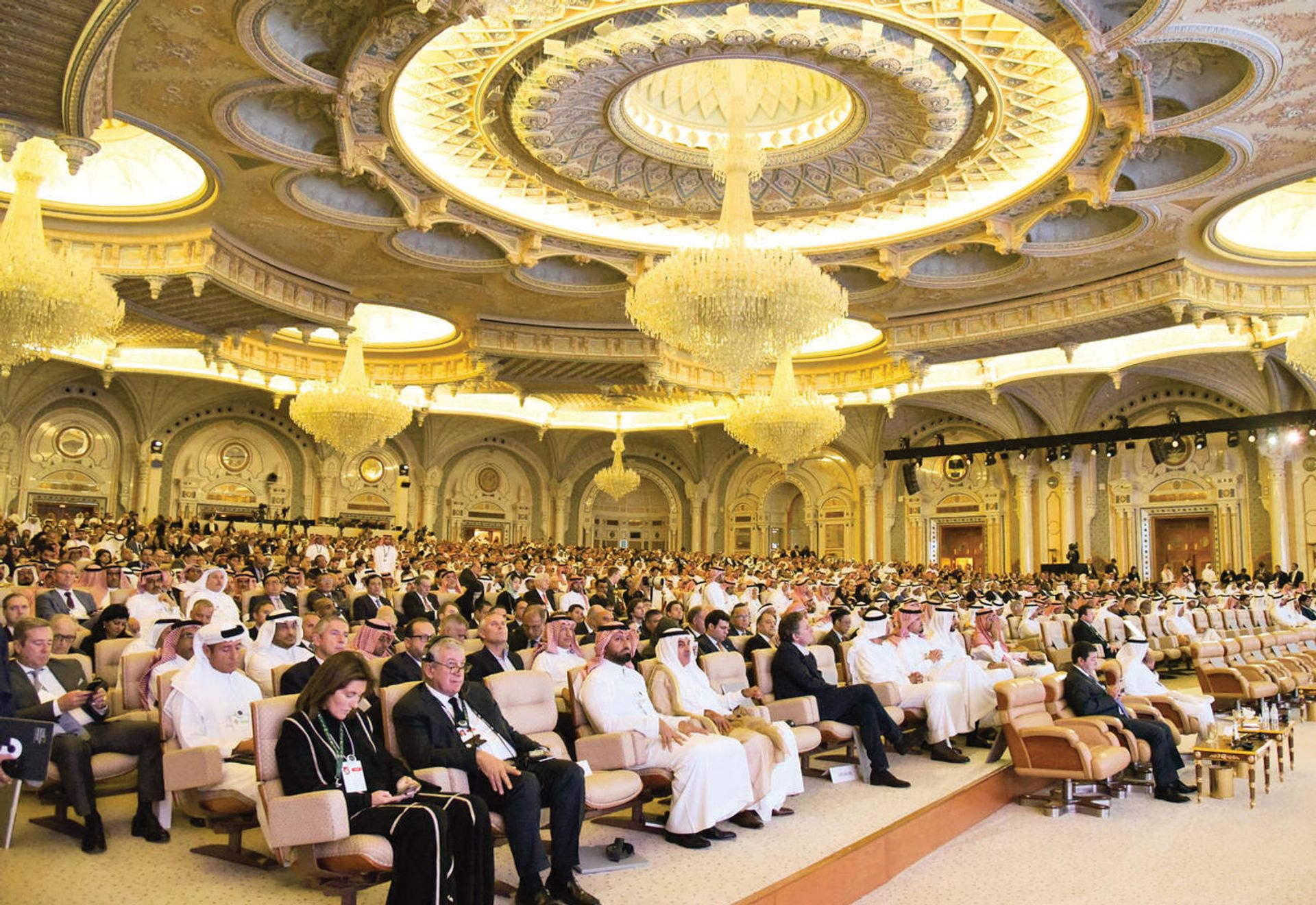 """The """"Davos in the desert"""" investment conference in Riyadh last October included an exhibition of works from Russia Tu Yifan/Xinhua/Alamy"""
