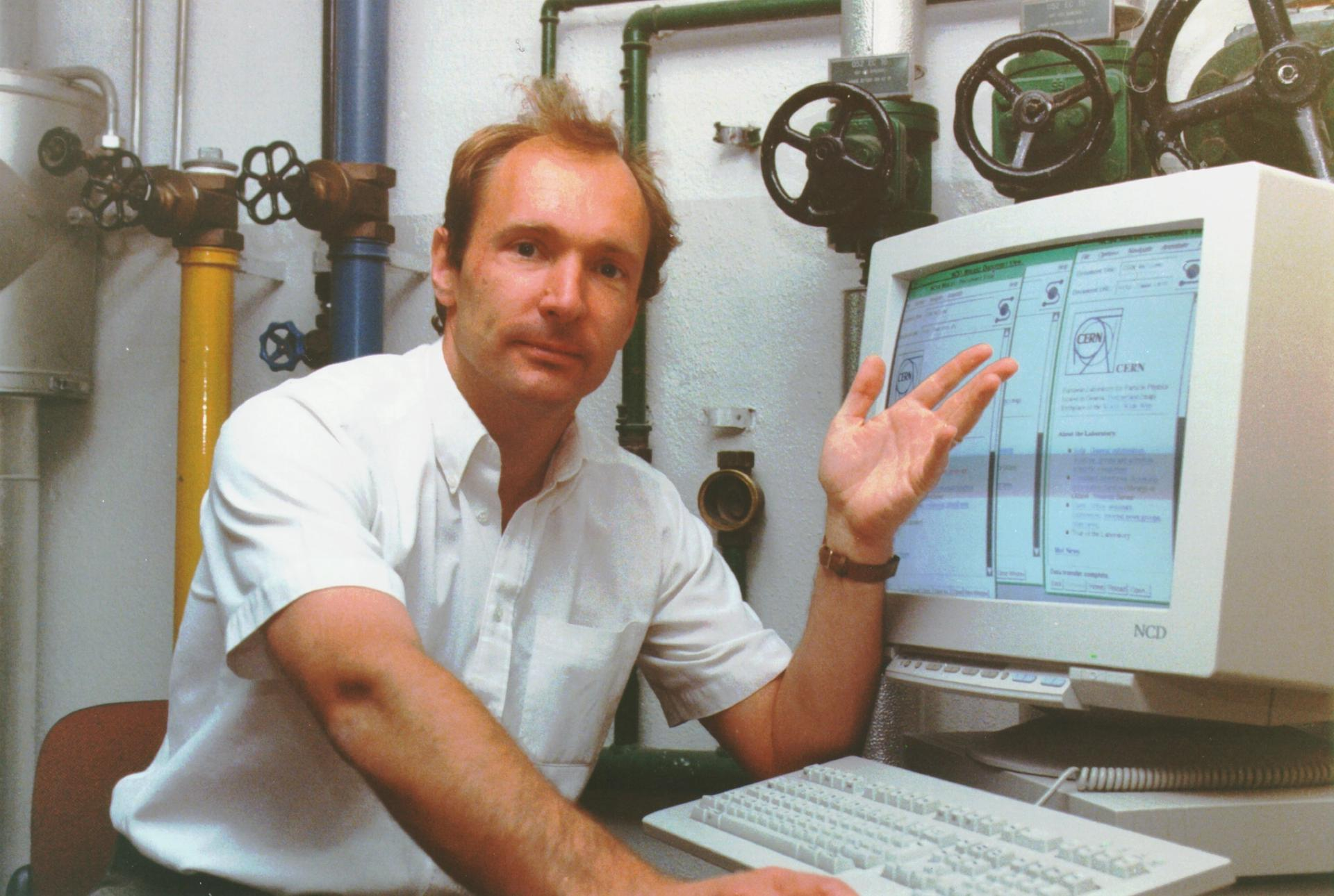 Tim Berners-Lee, inventor of the world wide web, in 1989 Courtesy of Sotheby's