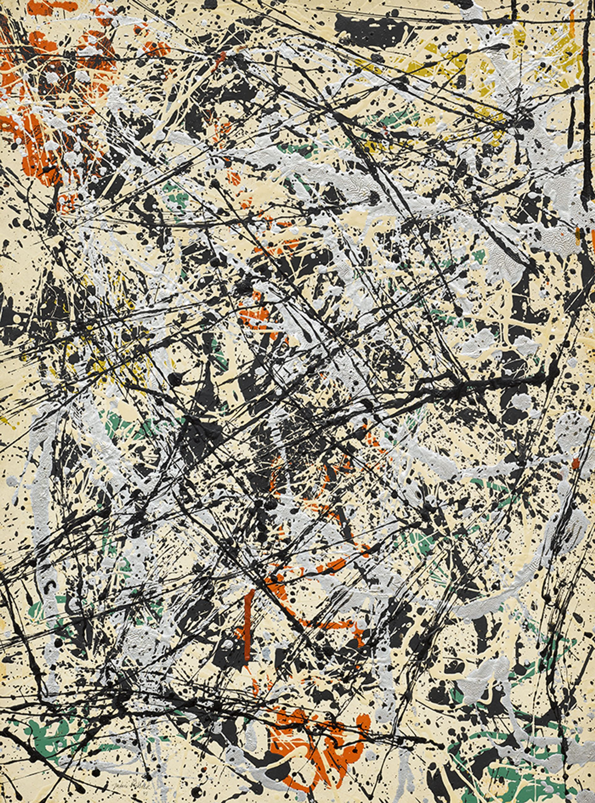 Jackson Pollock's Number 32, 1949, carries an estimate of $30m to $40m Courtesy of Sotheby's