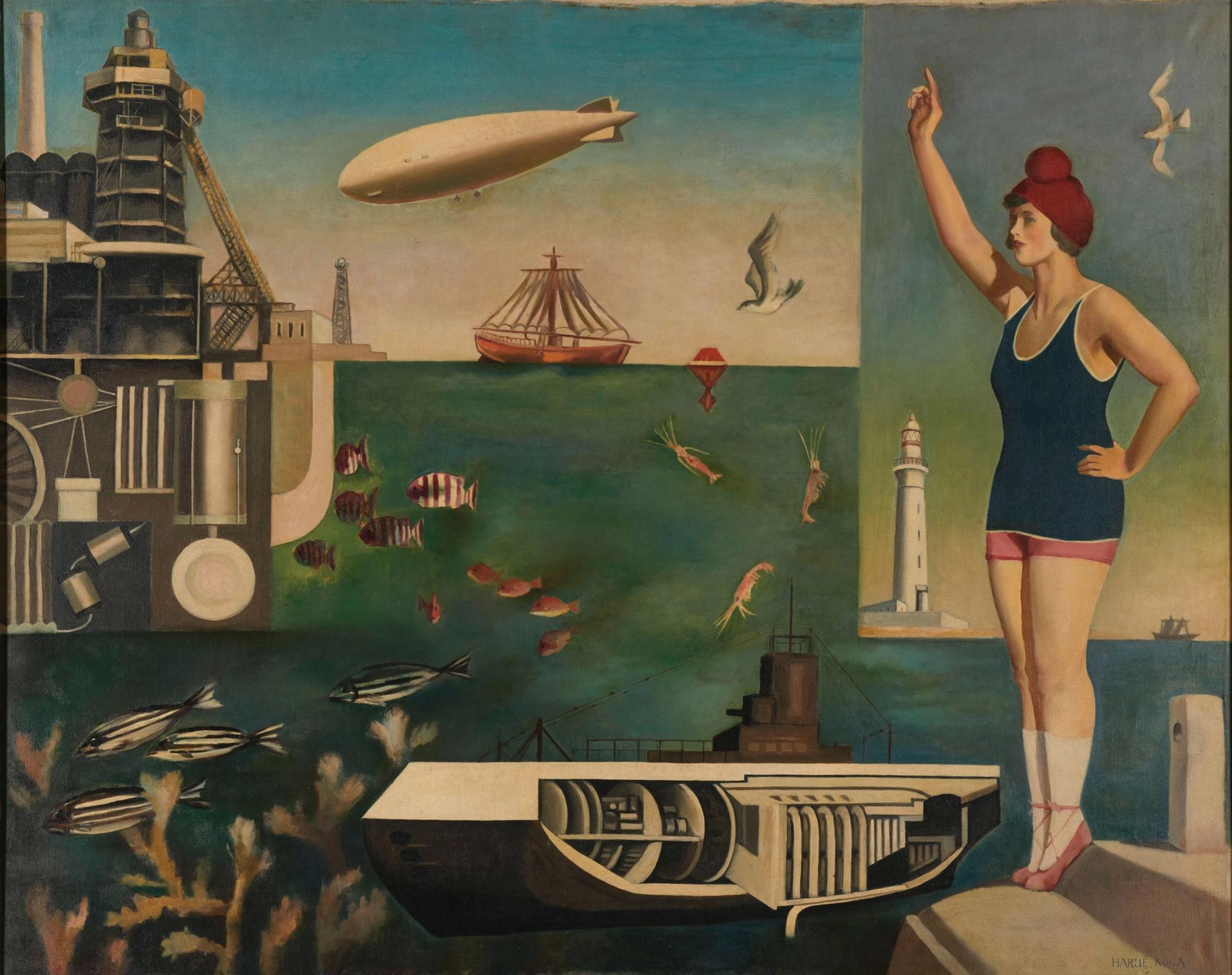 Koga Harue's Umi (The Sea) (1929) The National Museum of Modern Art, Tokyo