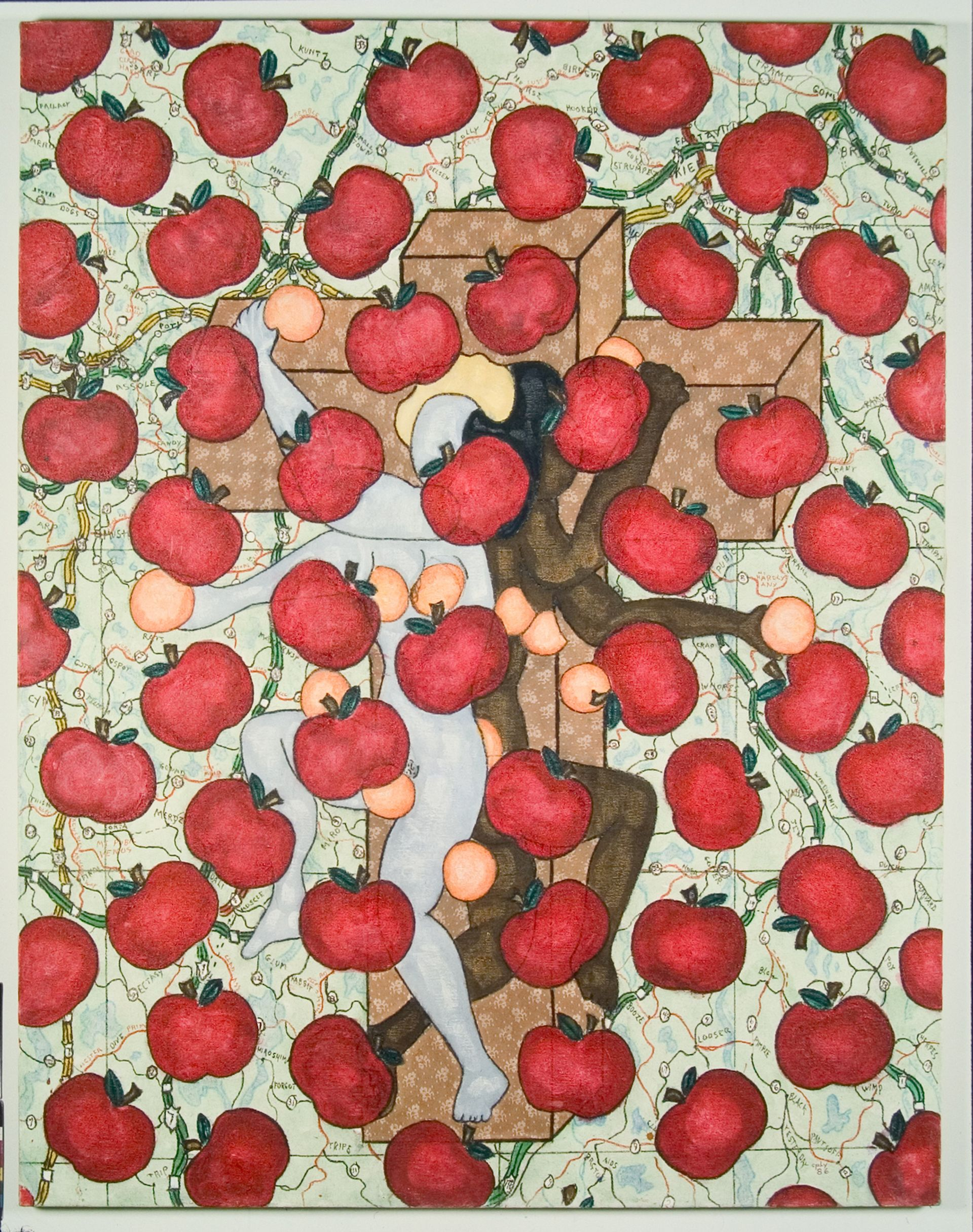 William N. Copley, Untitled (Apples & Oranges) (1986) © 2020 William N. Copley Estate / Artists Rights Society (ARS), New York. Courtesy of Kasmin Gallery