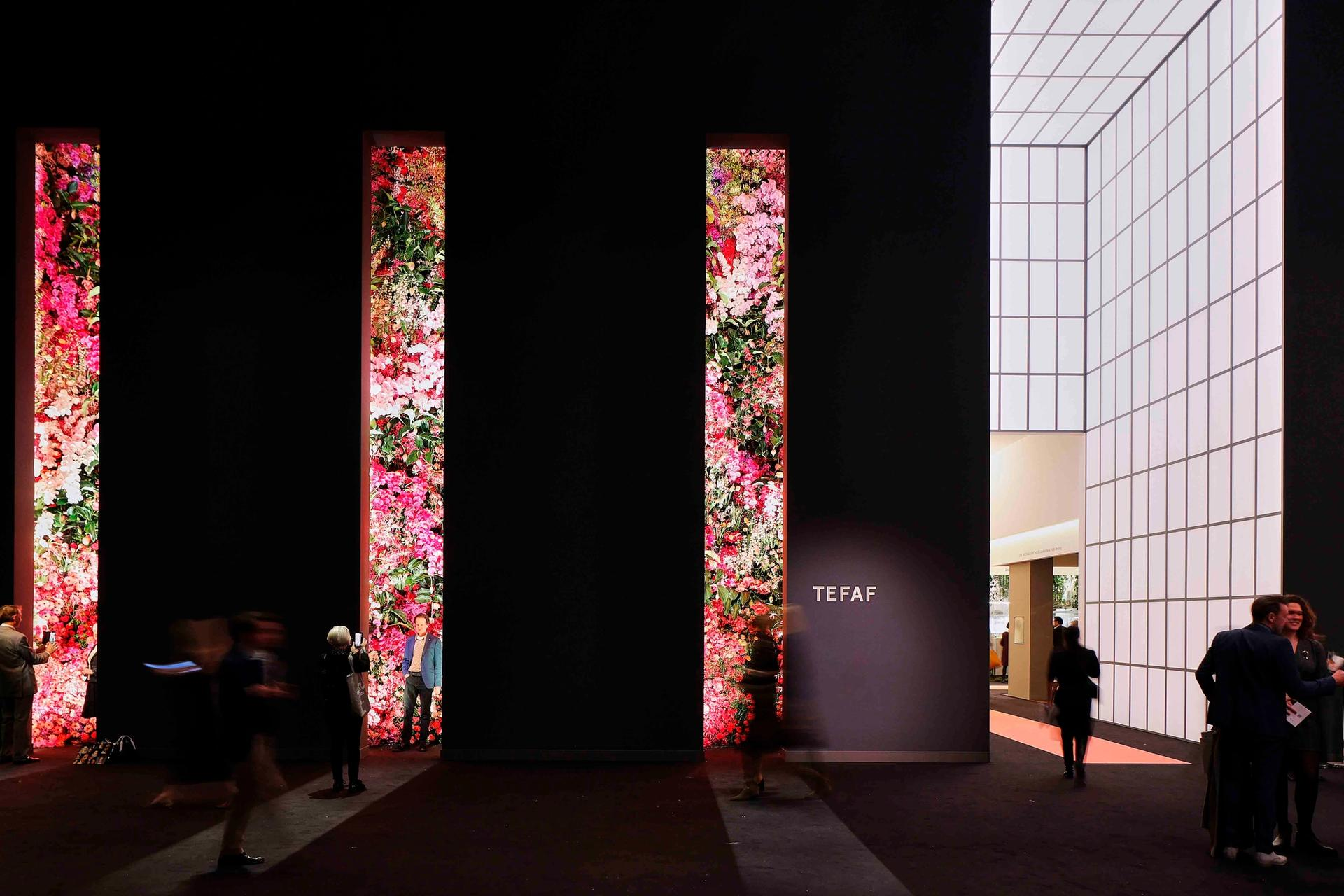 This year's Tefaf Maastricht drew 4,000 visitors for yesterday's VVIP day, 29% down on last year—but there was still a queue to take a selfie with the famous flower wall Courtesy of Tefaf