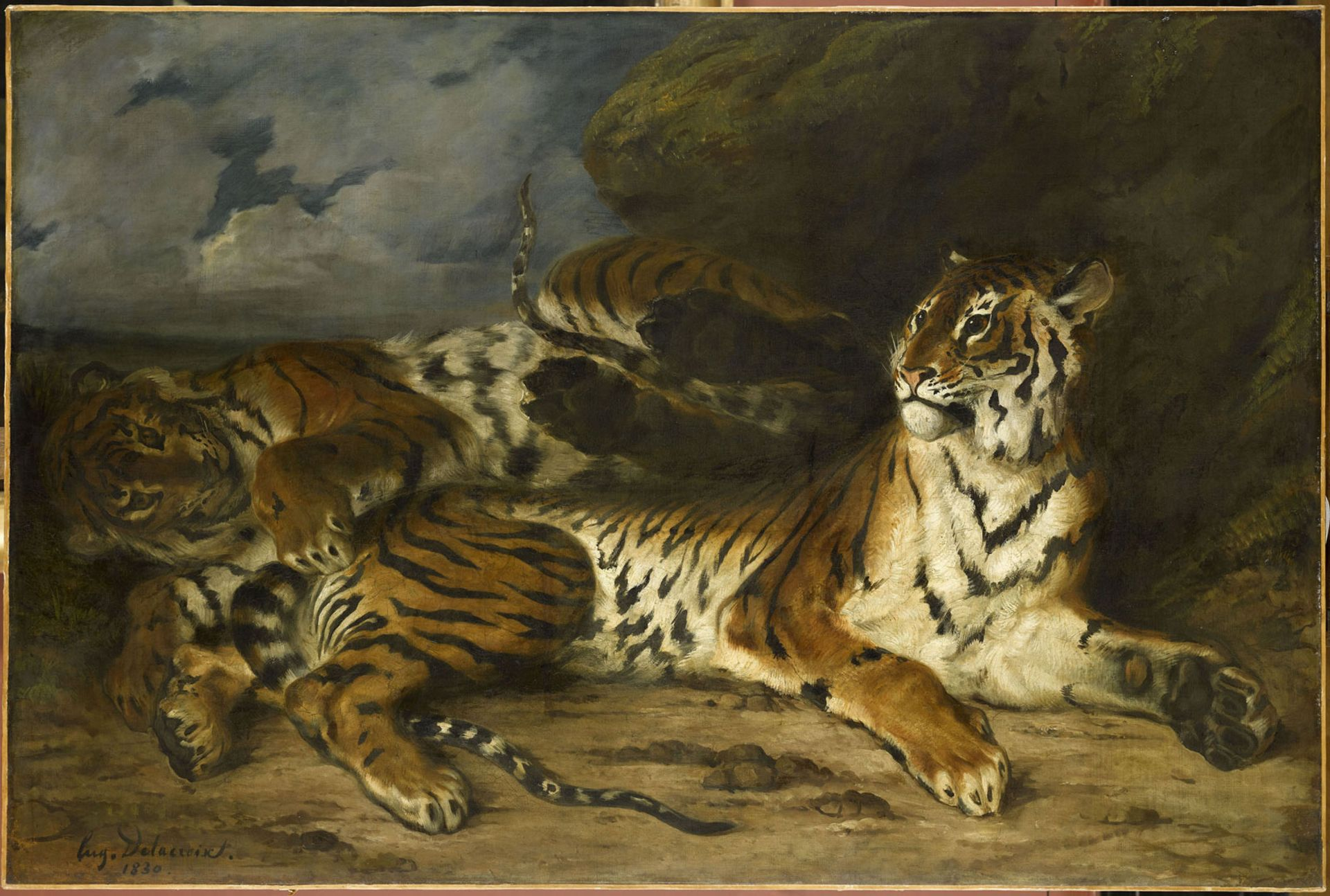 A painting that could have been left out: Young Tiger Playing with Its Mother (1830) Photo courtesy Musée du Louvre, RF1943