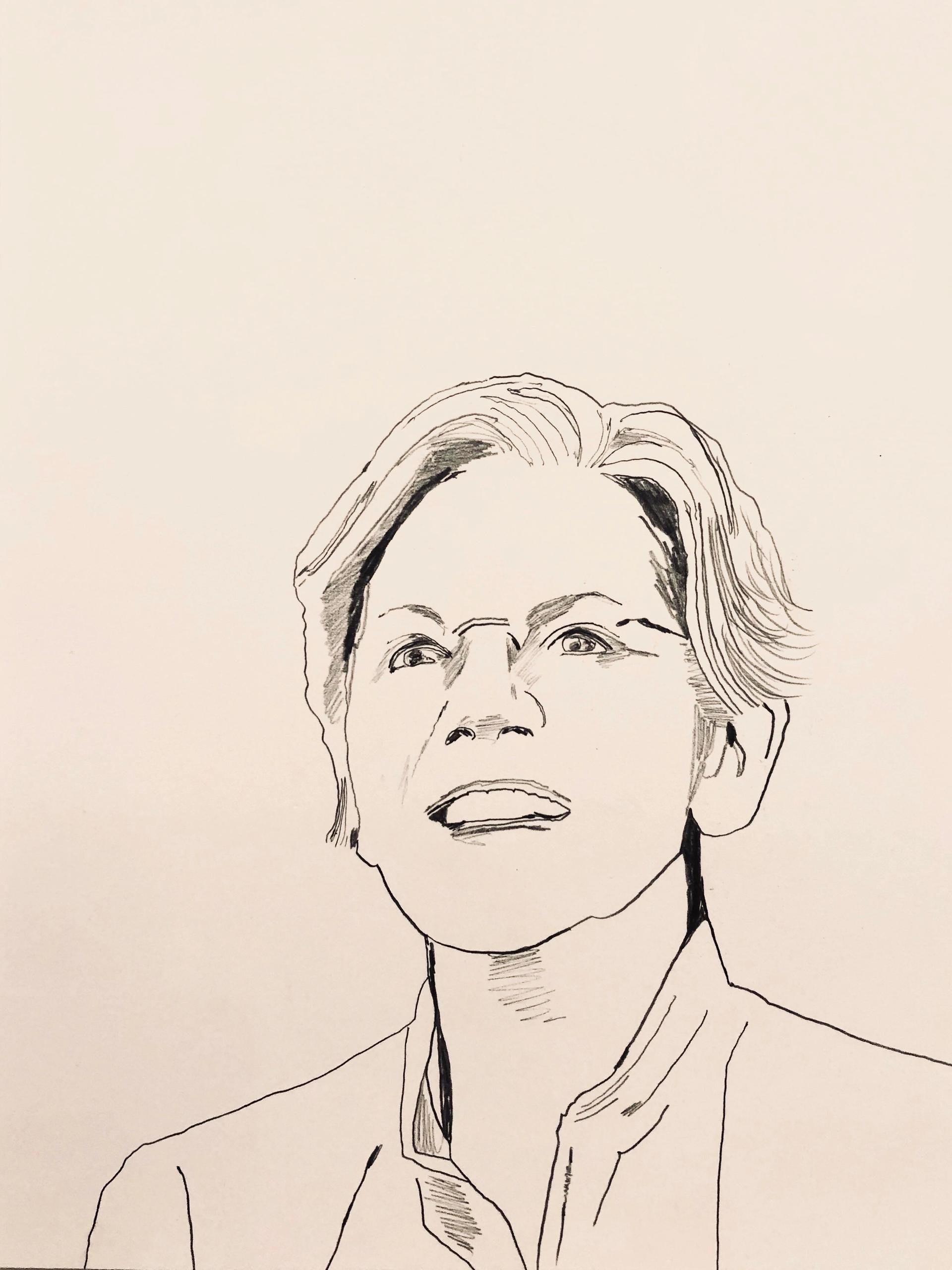 "A portrait of the Massachusetts senator from the project ""Elizabeth Warren Wins"" by Whitney Bedford © Whitney Bedford"