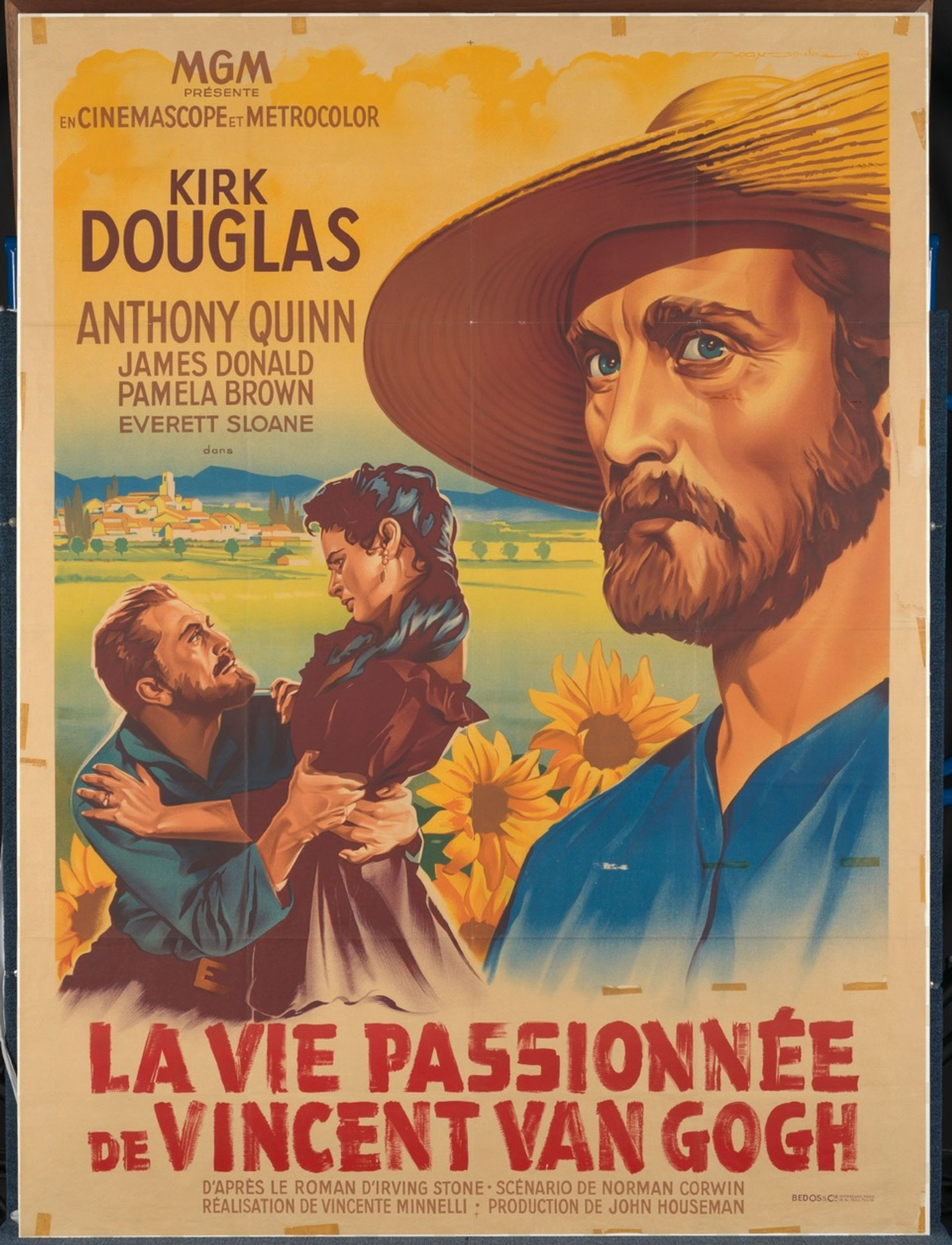 Poster for the French version of Lust for Life (1956) Courtesy of Van Gogh Museum, Amsterdam
