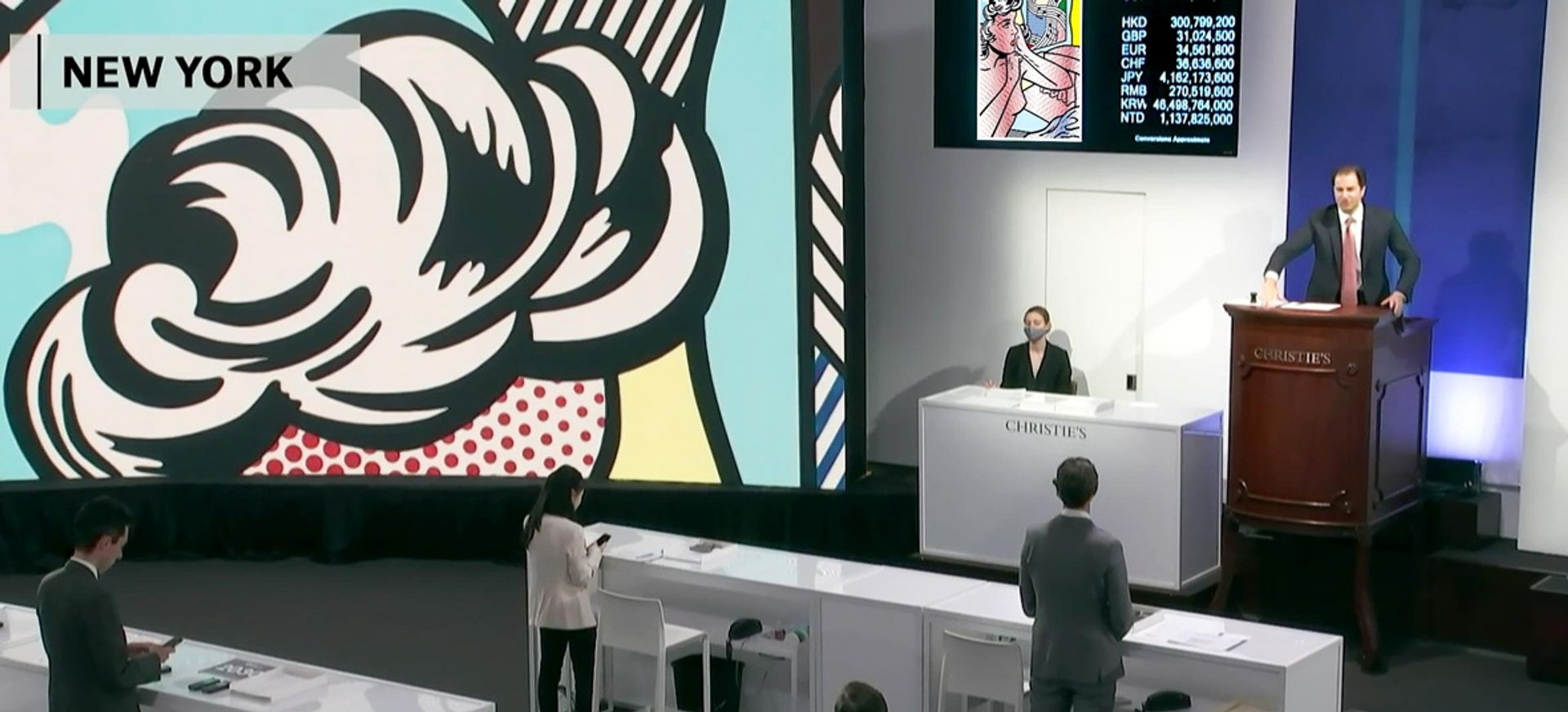 Auctioneer Adrien Meyer led the fourth and final New York leg of Christie's One sale Christie's