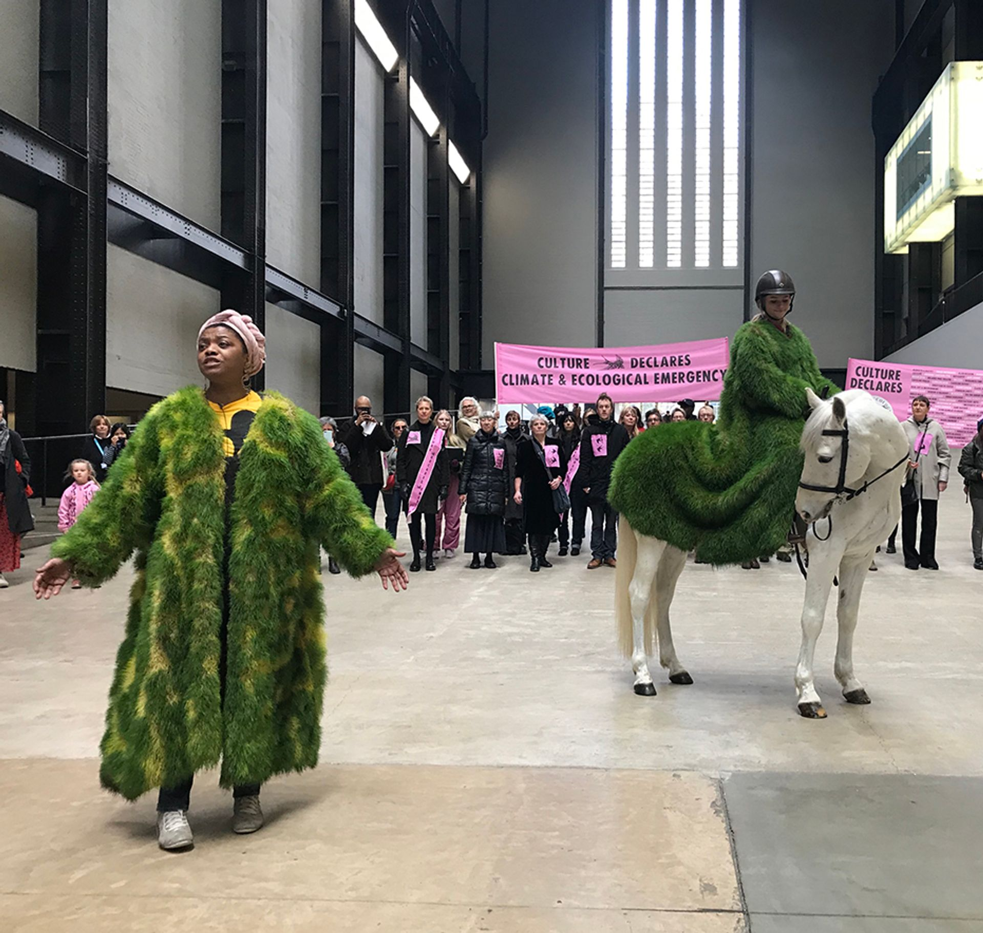 Culture Declares Emergency at the Tate Modern's Turbine Hall Courtesy of Louisa Buck