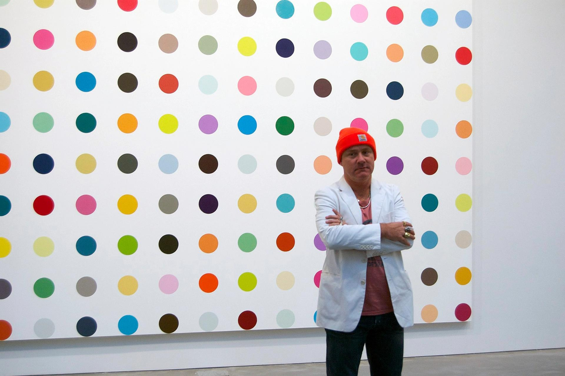 Damien Hirst is considered a safe bet in a troubled art market Photo: Andrew Russeth