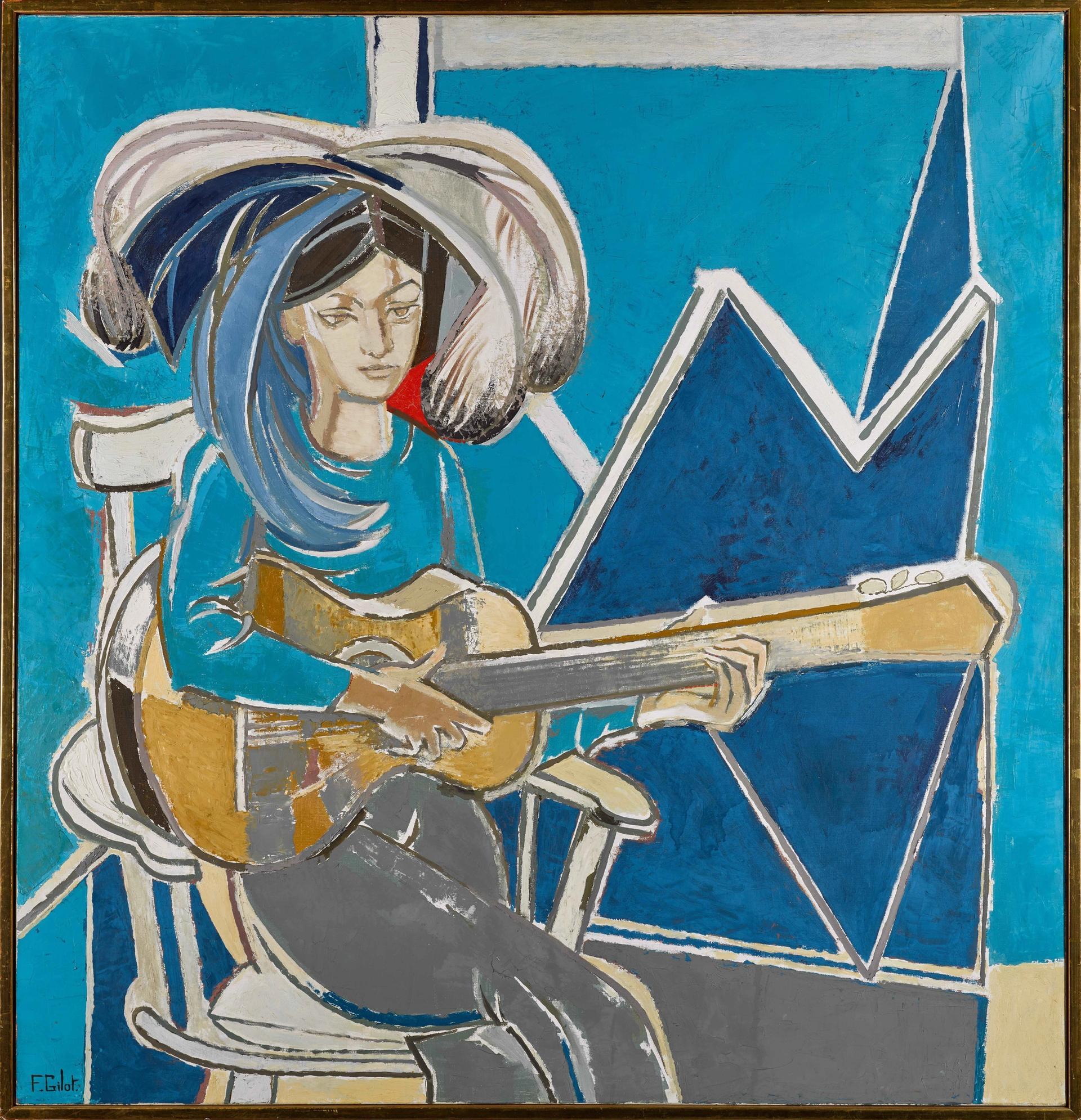 Françoise Gilot's Paloma à la Guitare Courtesy of Sotheby's