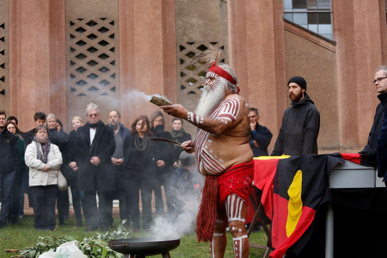 The ancestral remains were returned to Australian representatives at a ceremony at the Grassi Museum of Ethnology in Leipzig © Photo: Andreas Wünschirs