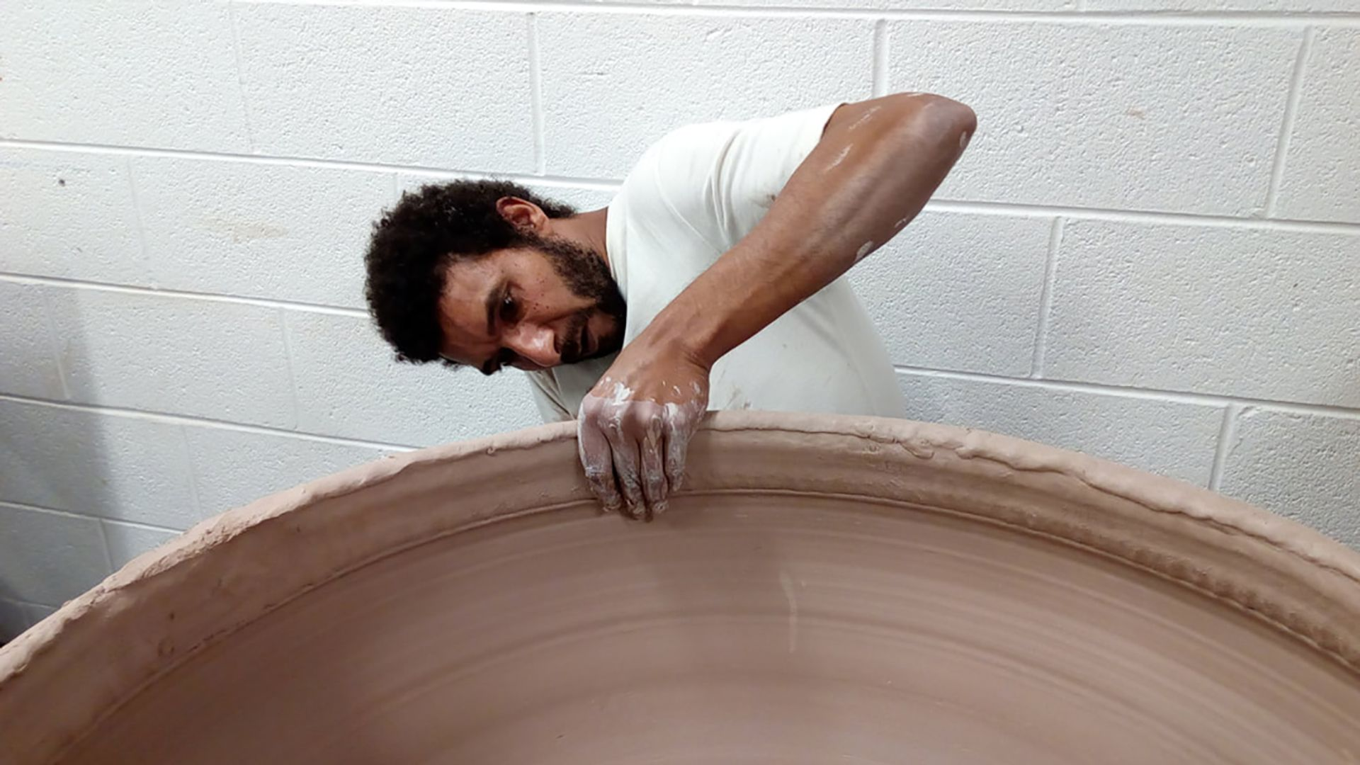 The artist Ibrahim Said, whose work is on view at the Clay Studio in Philadelphia. The studio has been awarded a project grant by the Pew Center for Arts & Heritage. Courtesy of the Clay Studio