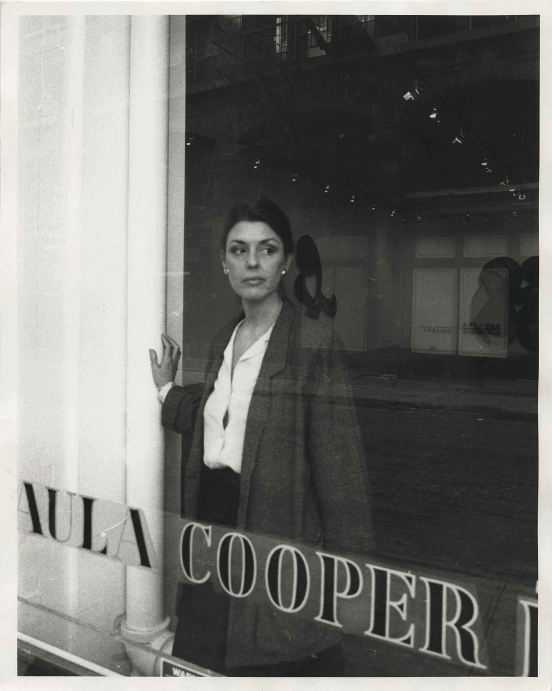 Paula Cooper at her gallery on Wooster Street, New York in 1983 Photo: Richard Leslie Schulman; courtesy of paula cooper gallery