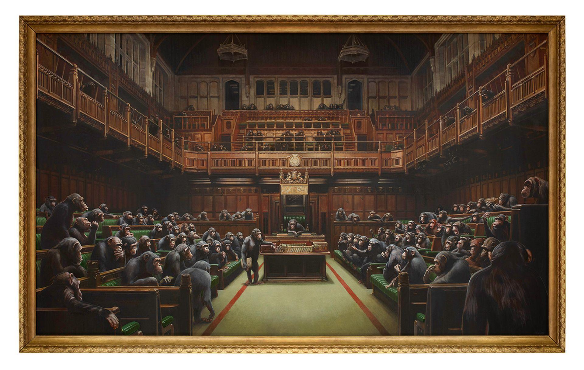Homo politicus: Banksy's Devolved Parliament sold for £9.9m © Bristol Culture