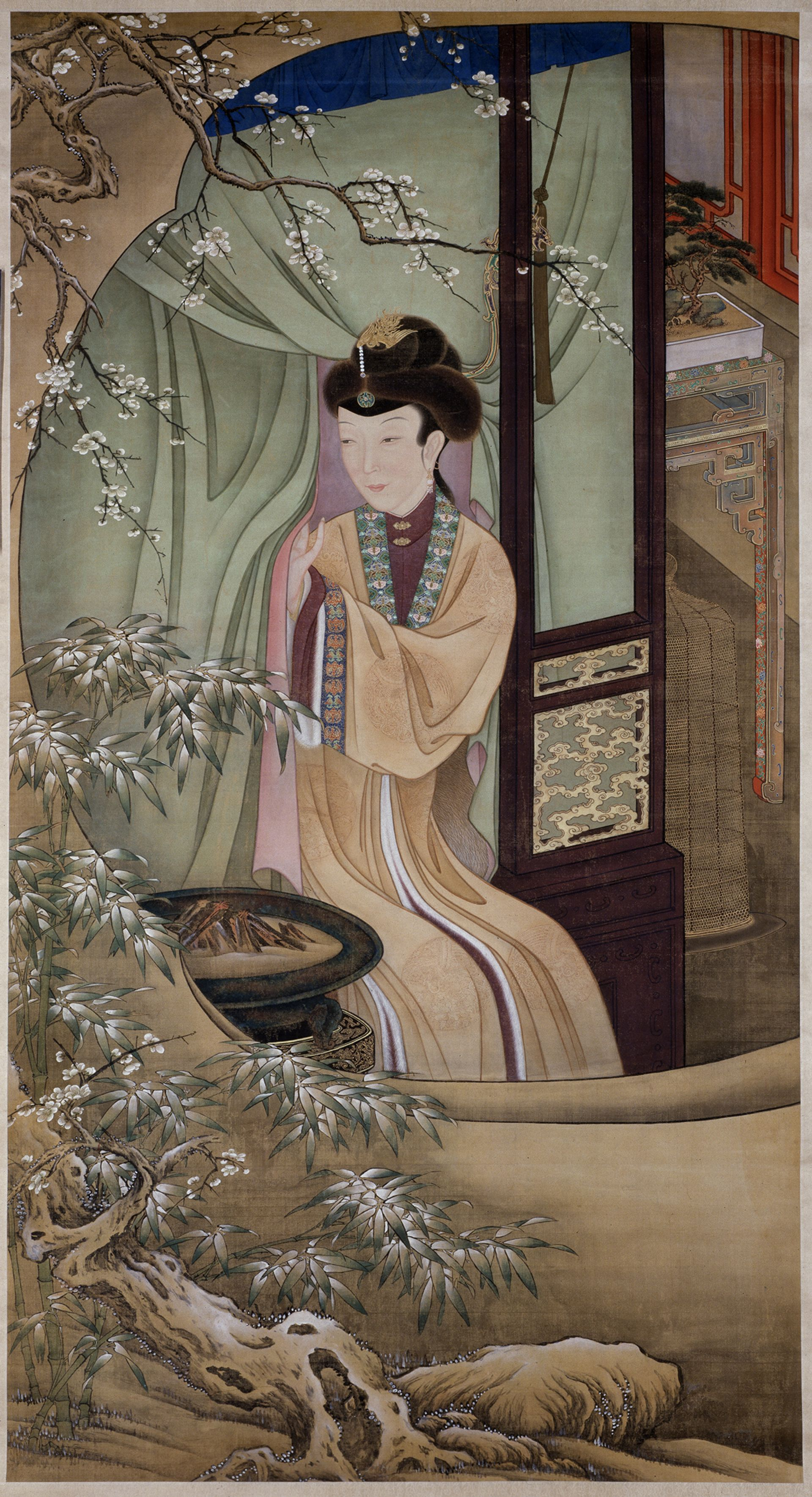 A hanging scroll by 17th- or 18th-century court painters in Beijing © The Palace Museum