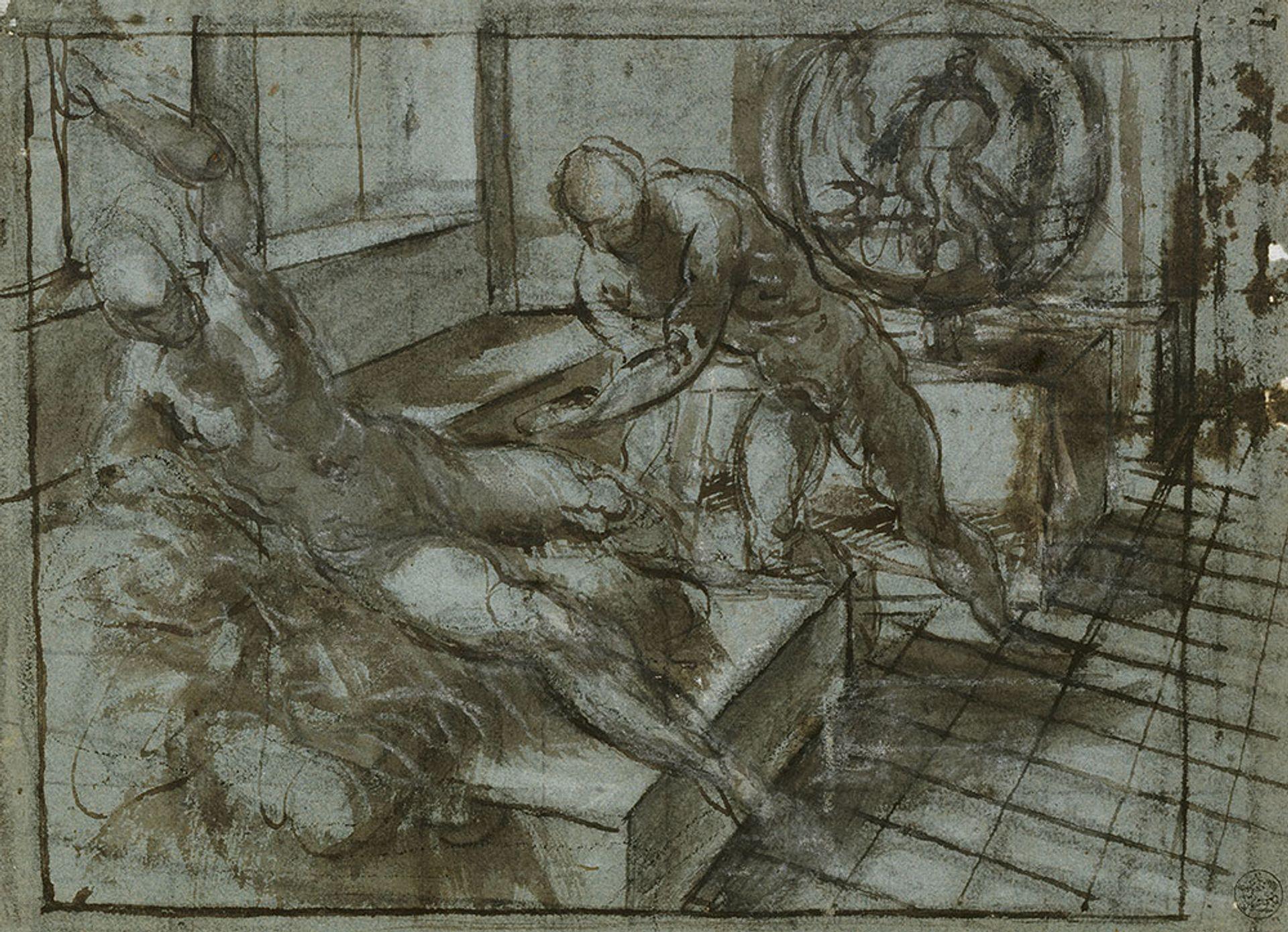 Tintoretto, Venus and Vulcan (around 1545), black chalk, pen and brown ink with brown and gray wash bpk Bildagentur / Kup- ferstichkabinett, Staatliche Museen zu Berlin /Art Resource, NY. Photography by Jorg P. Anders