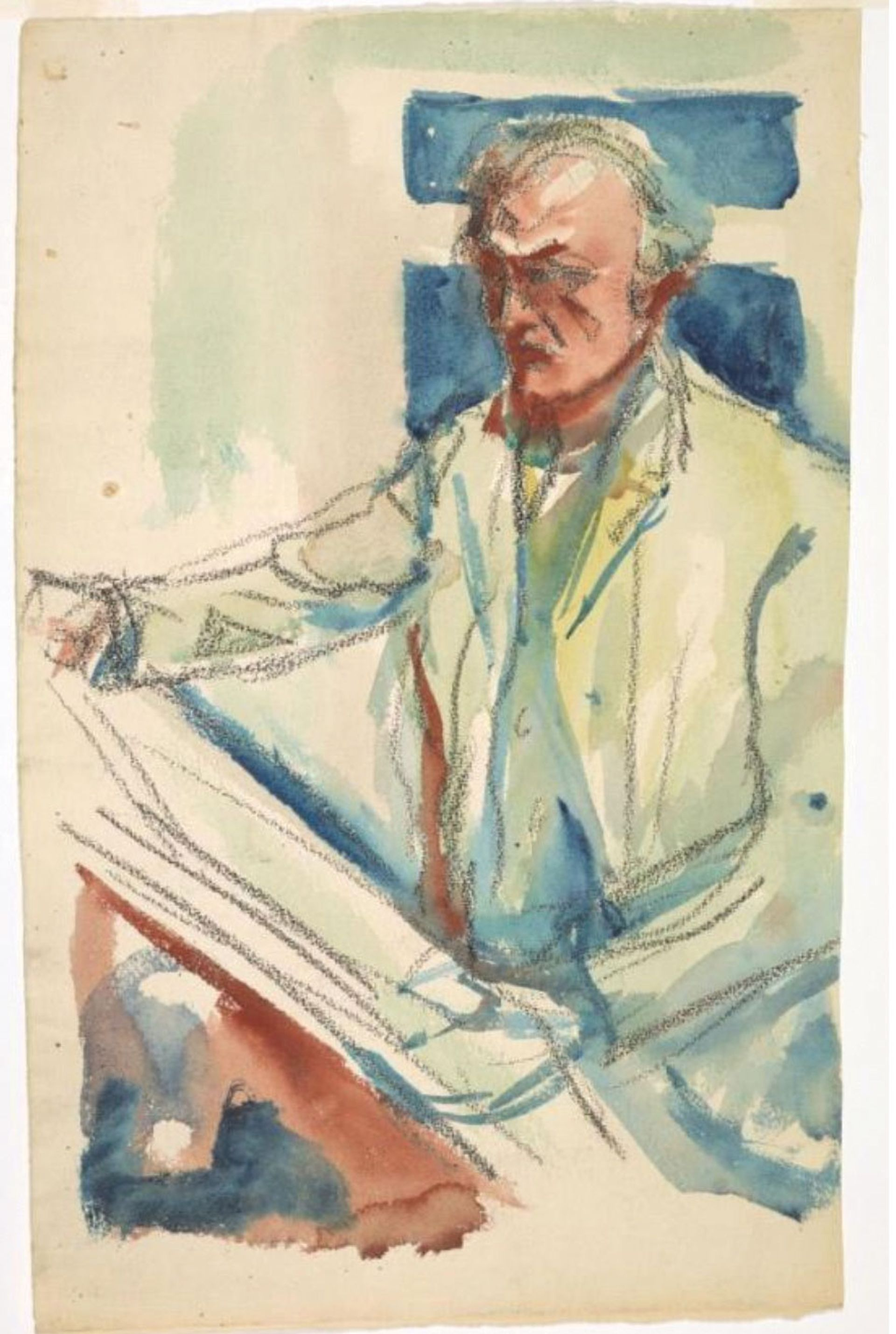 Munch's Self-portrait with Sketchbook (1914-19) is part of the new online database Munch Museum