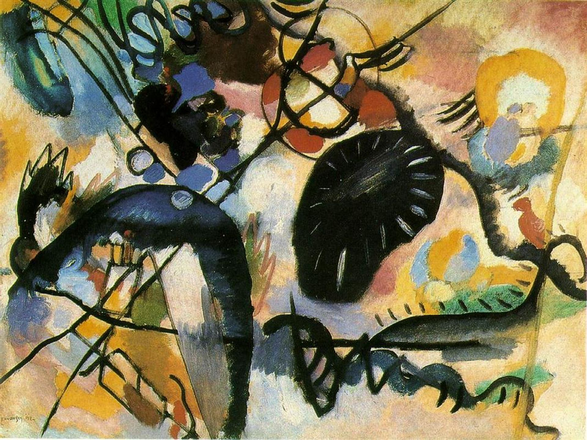 Wassily Kandinsky's Black Spot (1917) is part of the exhibition at the King Fahd Cultural Centre