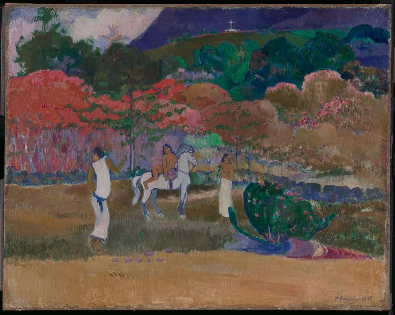 Paul Gauguin's Women and a White Horse (1903), part of the Museum of Fine Arts, Boston's collection