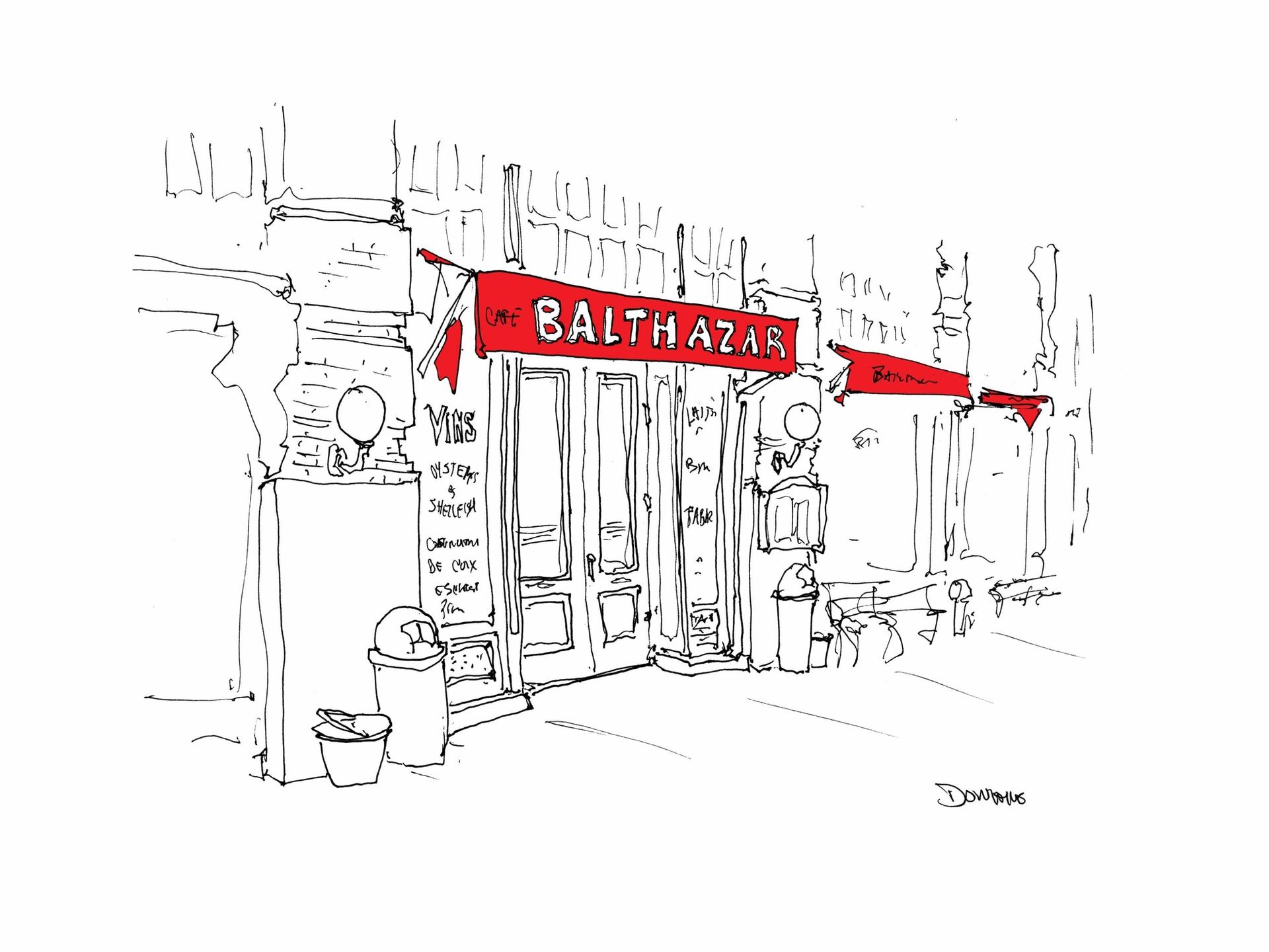 Donahue has been sketching New York's favourite eateries since 2017. Courtesy of the artist