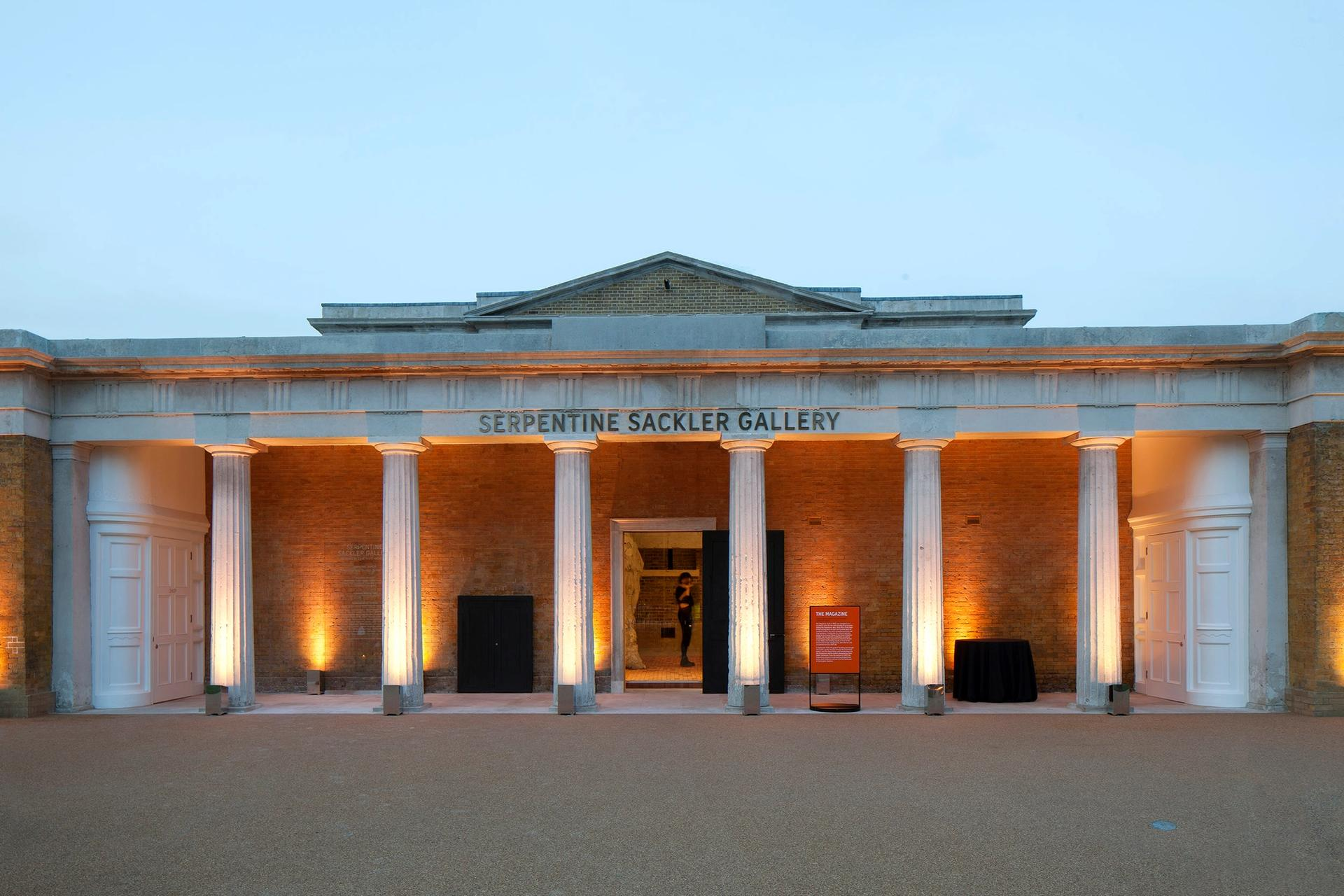 The Sackler name is still on the facade of the building © 2013 Luke Hayes