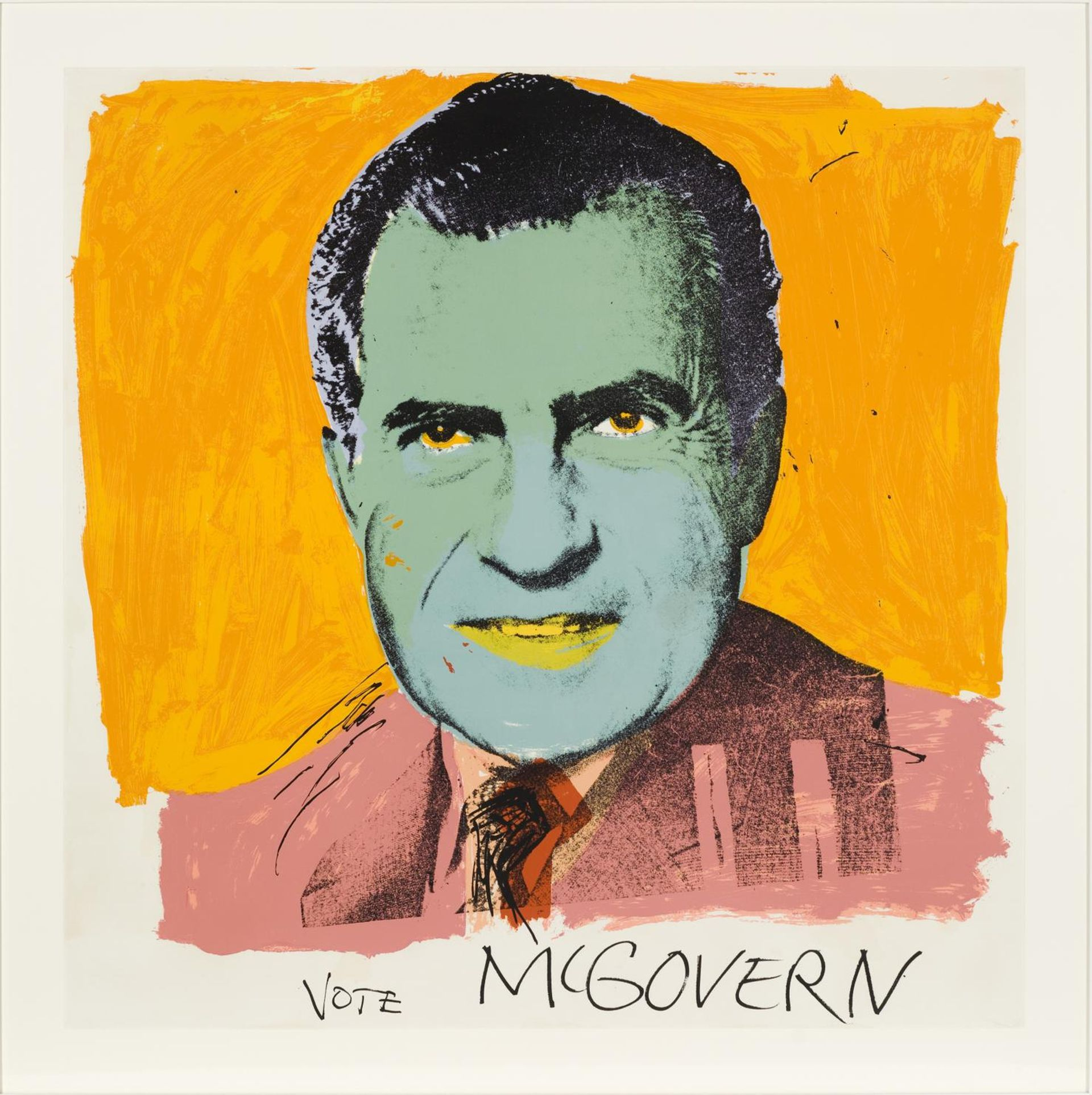 """One of many Warhol's donated to the MCA Chicago by the late patron Beatrice """"Buddy"""" Cummings Mayer. Andy Warhol's Vote McGovern (The McGovern Poster), 1972 Photo: Nathan Keay, © MCA Chicago"""