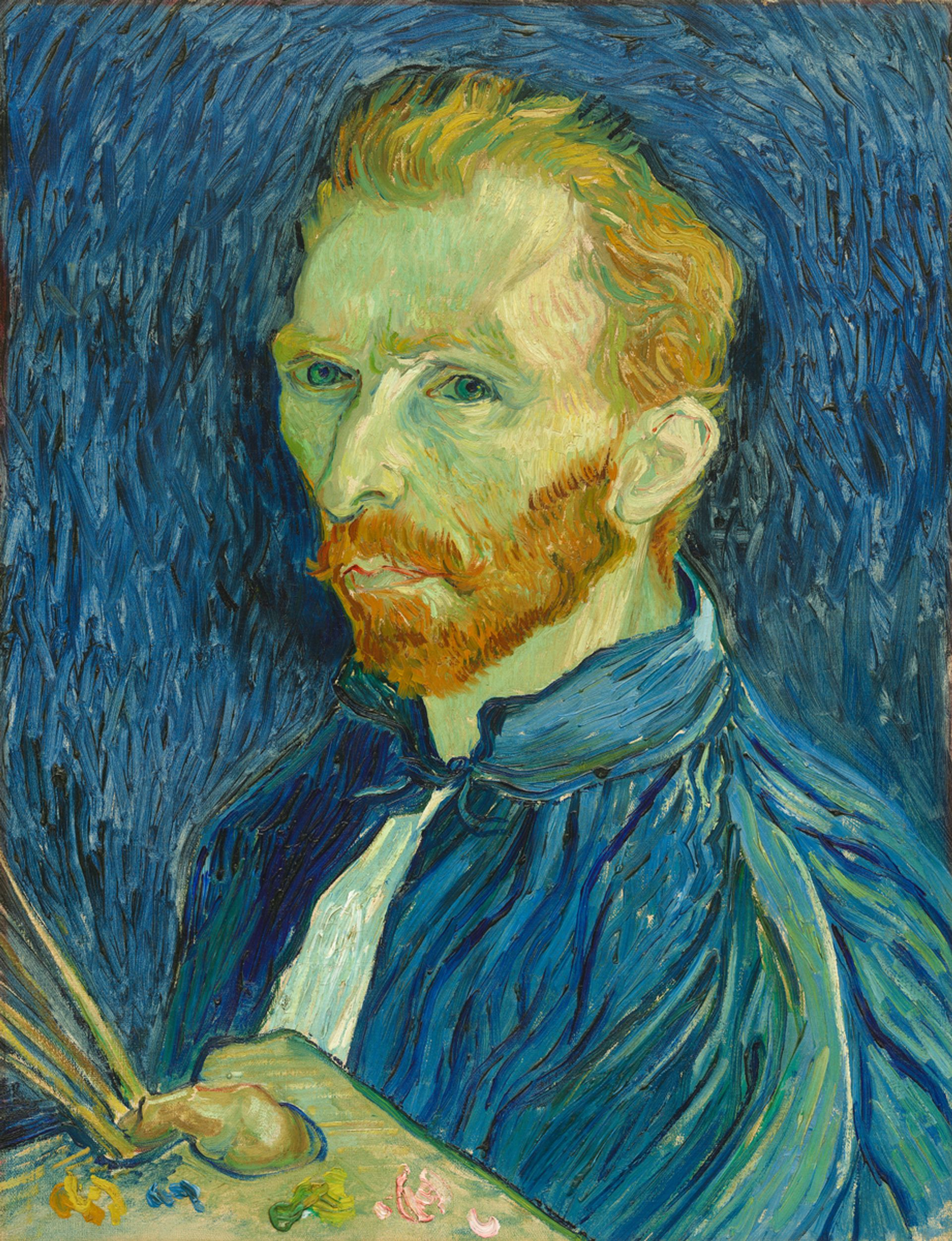 Vincent van Gogh's Self-portrait (1889), painted in the asylum Courtesy of the National Gallery of Art, Washington, DC
