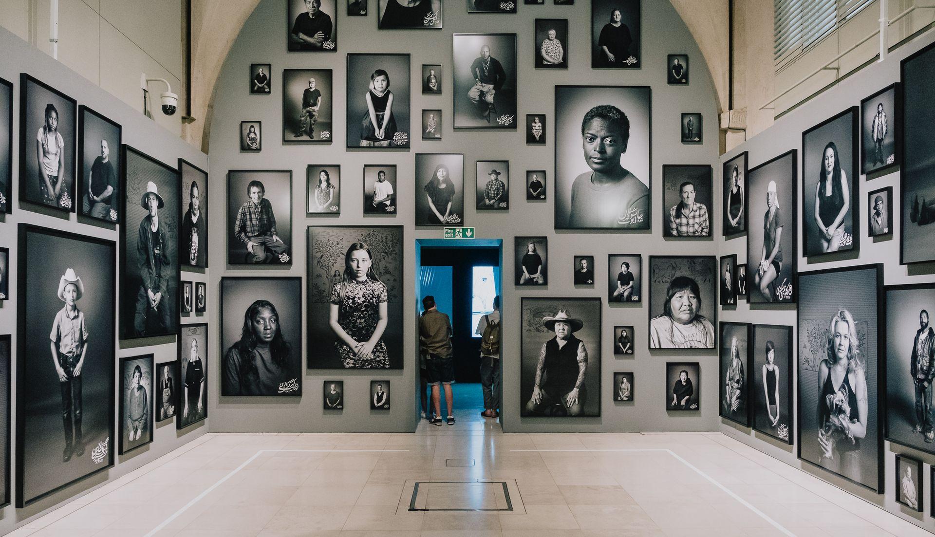 Shirin Neshat's installation at Photo London Courtesy the artist and Goodman Gallery, London