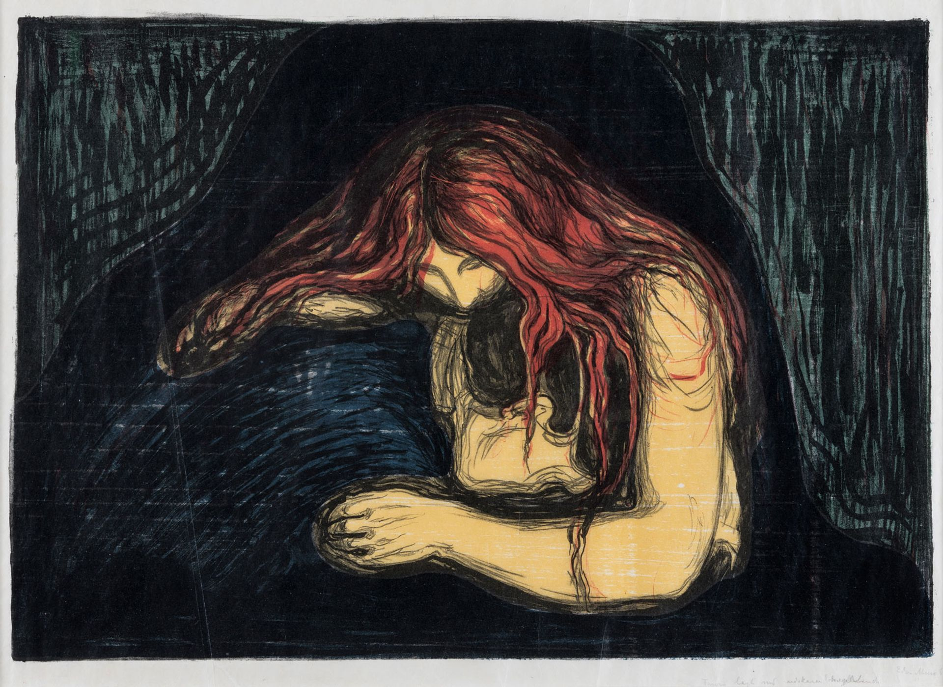 Edvard Munch's Vampire II (1896) © The Savings Bank Foundation DNB, on loan to Henie Onstad Kunstsenter, Oslo
